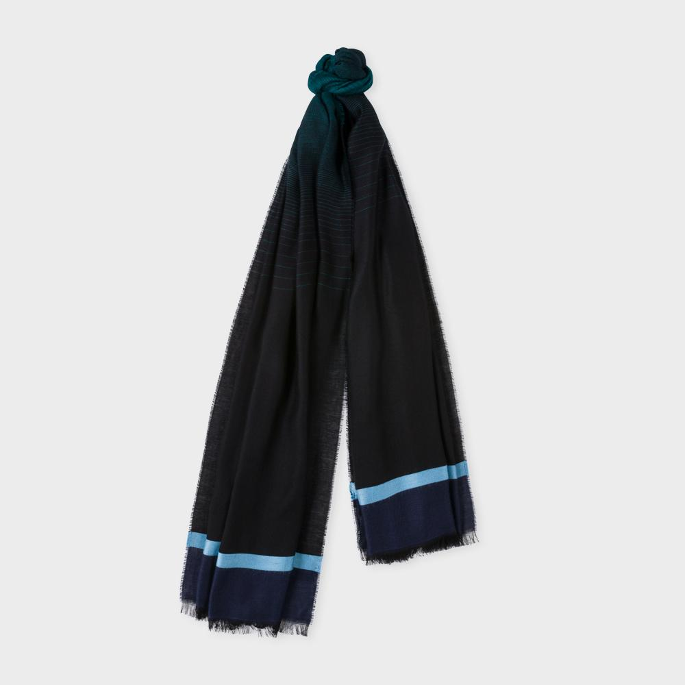 paul smith s navy ombr 233 scarf in blue lyst