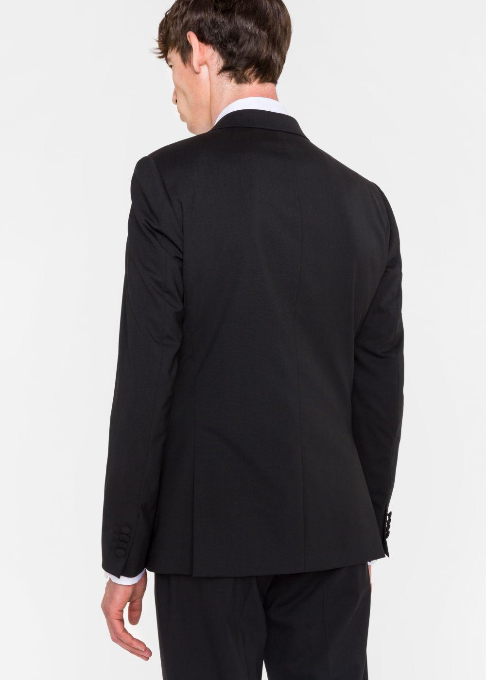 51ae131a659f Lyst - Paul Smith Men s Tailored-fit Black Stretch-wool Sequin-lapel ...