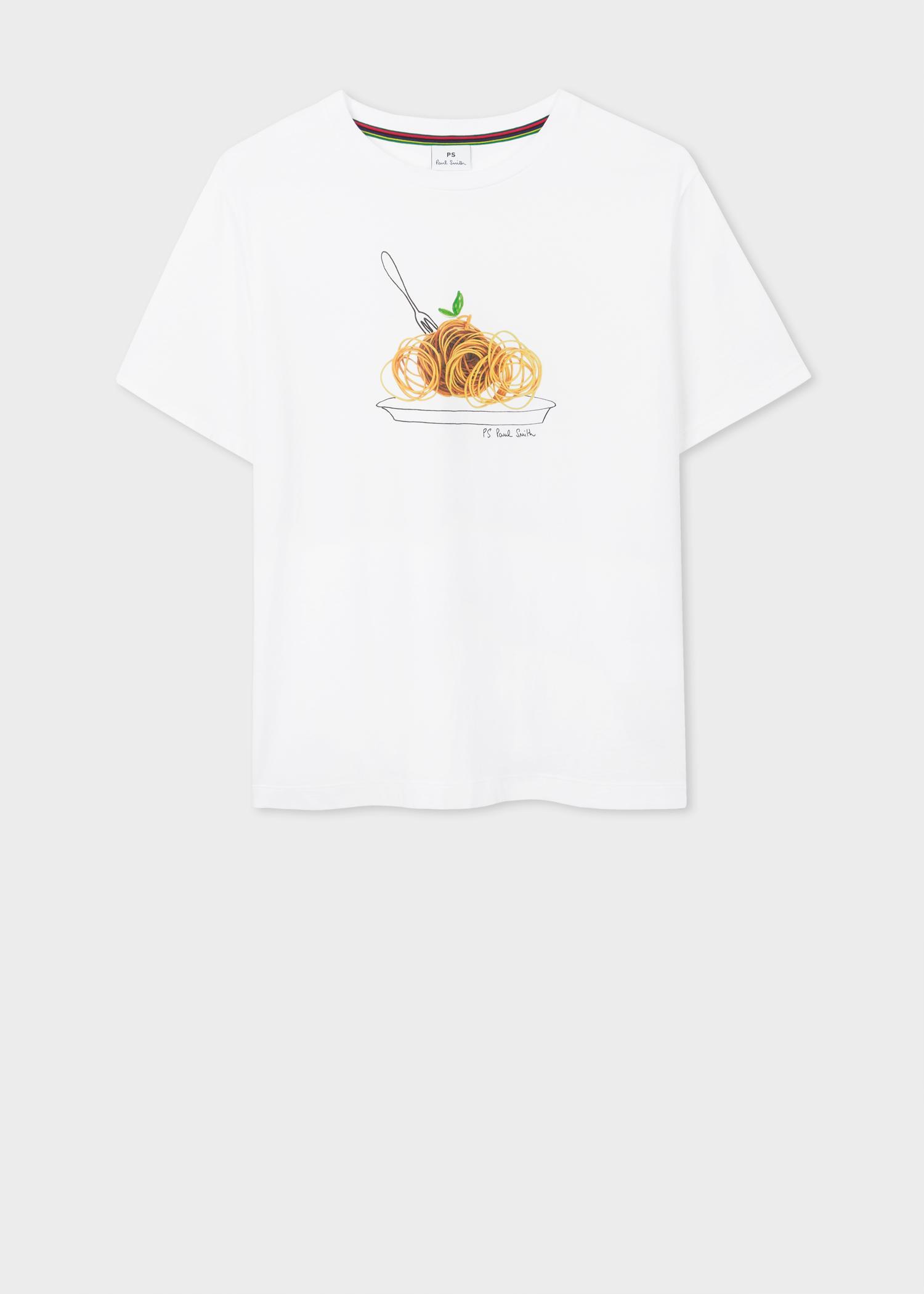03b3ae42 Paul Smith - White 'rubber Spaghetti' Print Cotton T-shirt - Lyst. View  fullscreen