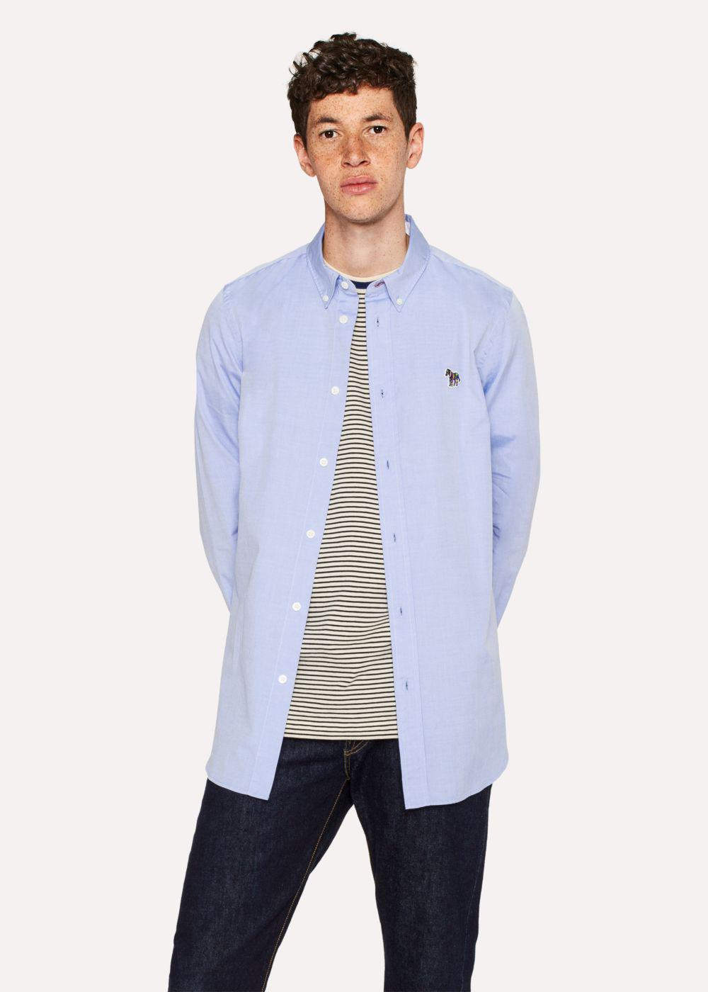 Lyst Paul Smith Mens Tailored Fit Sky Blue Cotton Shirt With