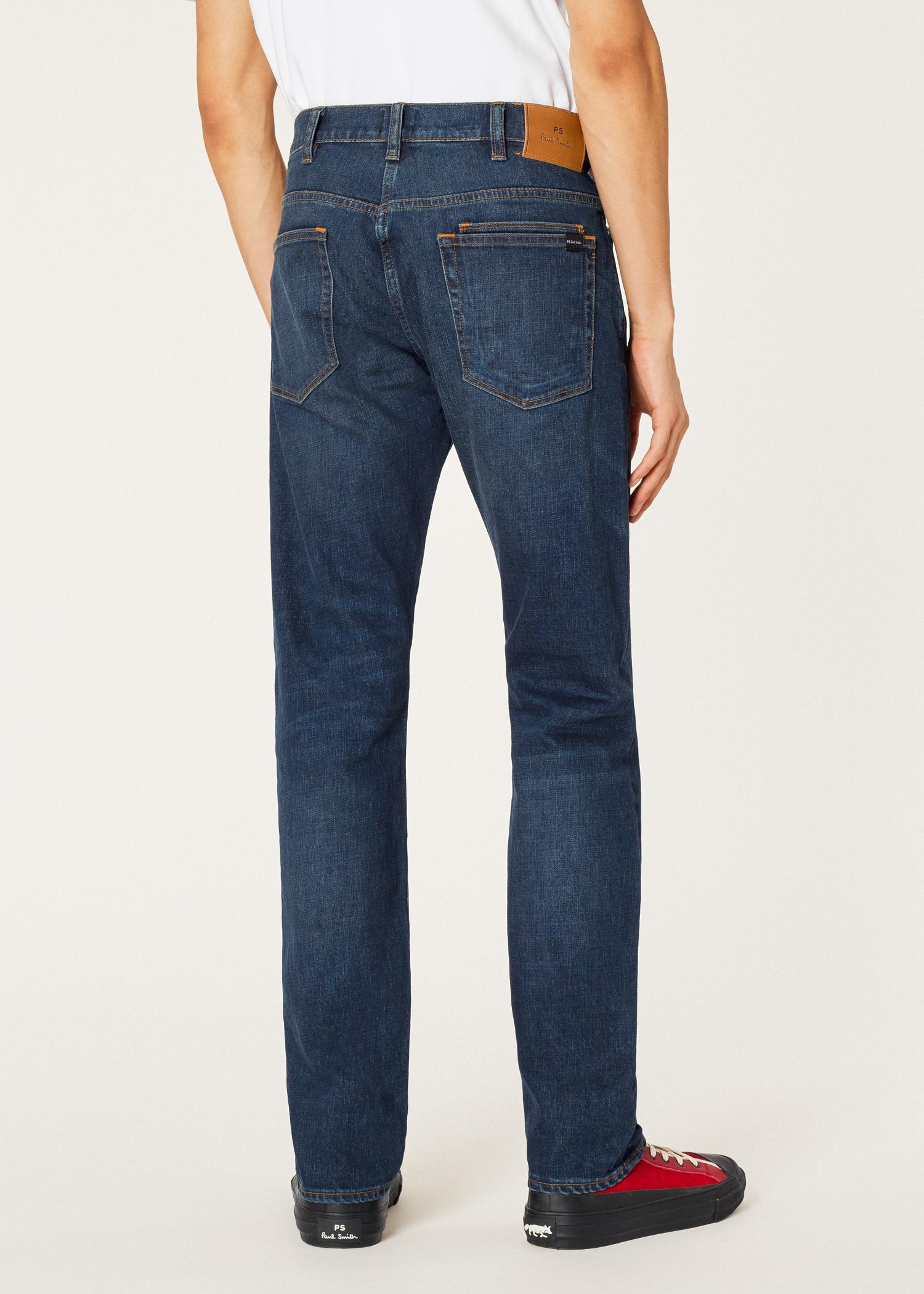 3941ce85d655 Paul Smith - Standard-fit 11.8oz  crosshatch Stretch  Blue-rinse Jeans.  View fullscreen
