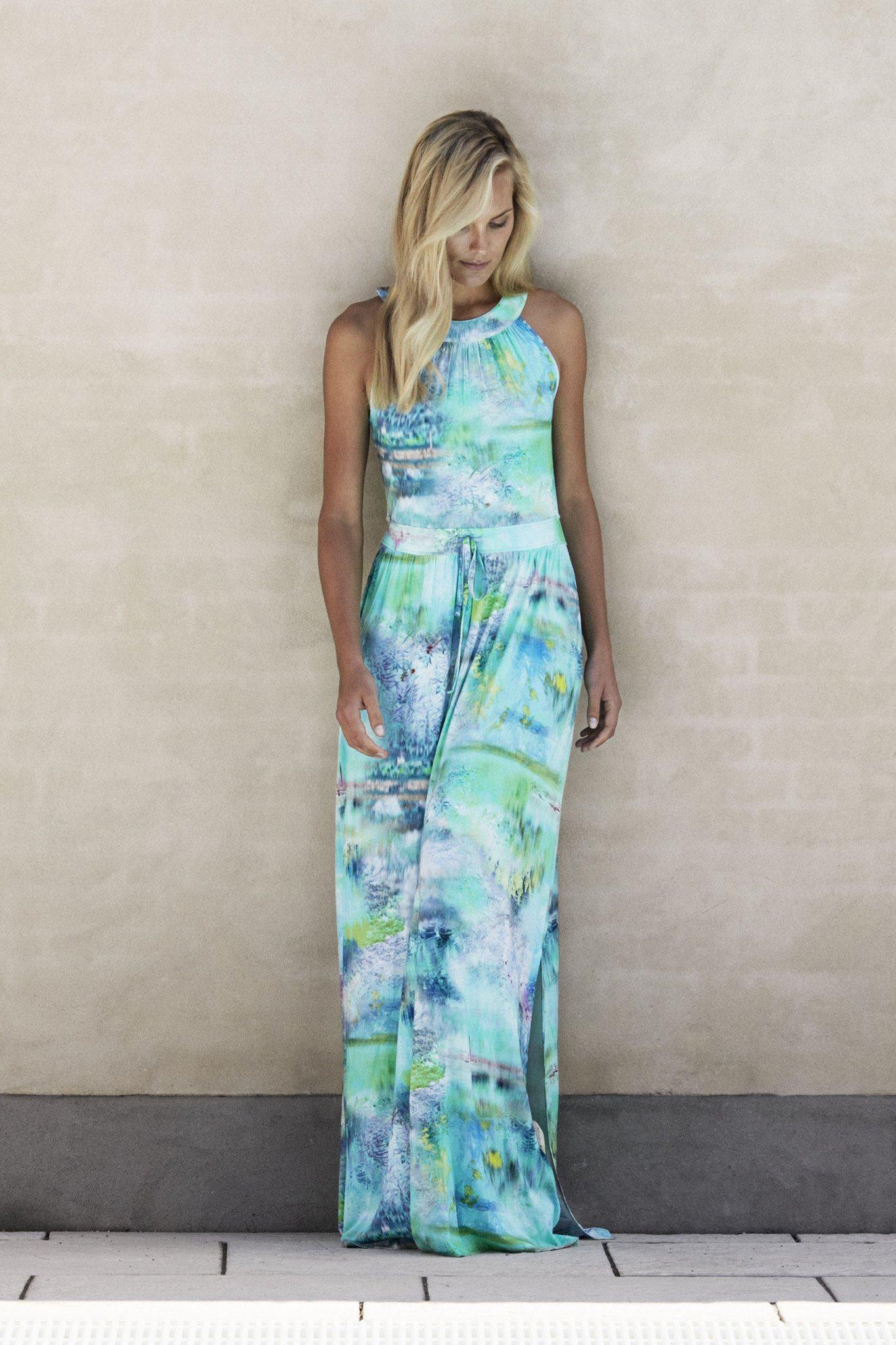 defffe3a2bd9 Ilse Jacobsen Soul33 Pastel Maxi Dress in Blue - Lyst