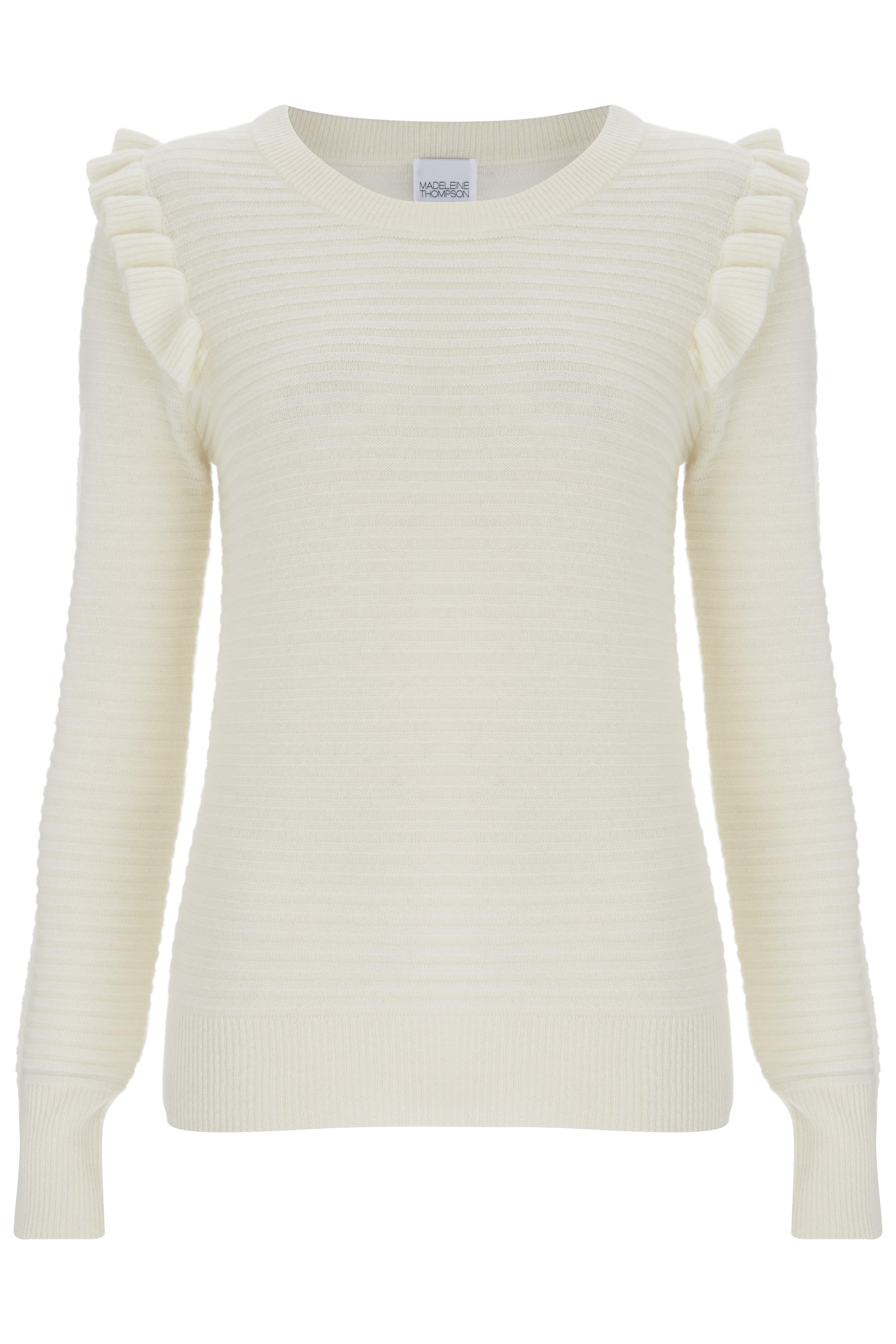 Limited Edition Cheap Sale 100% Original Madeleine Thompson Woman Rainton Cashmere Sweater Ivory Size S Madeleine Thompson Manchester For Sale Outlet Huge Surprise Sale Extremely vWIRWNsEp