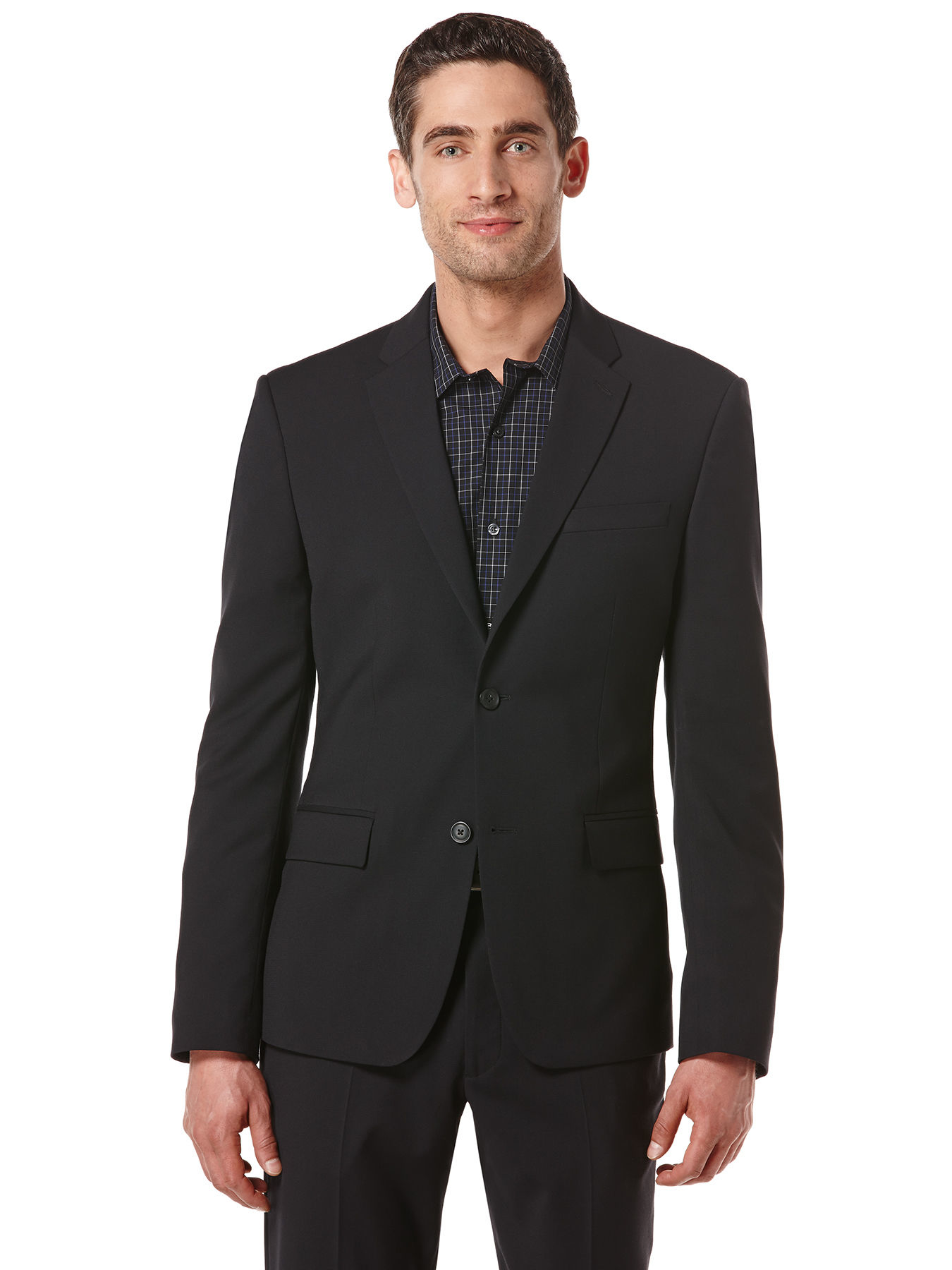Perry Ellis Slim Fit Textured Washable Suit Jacket