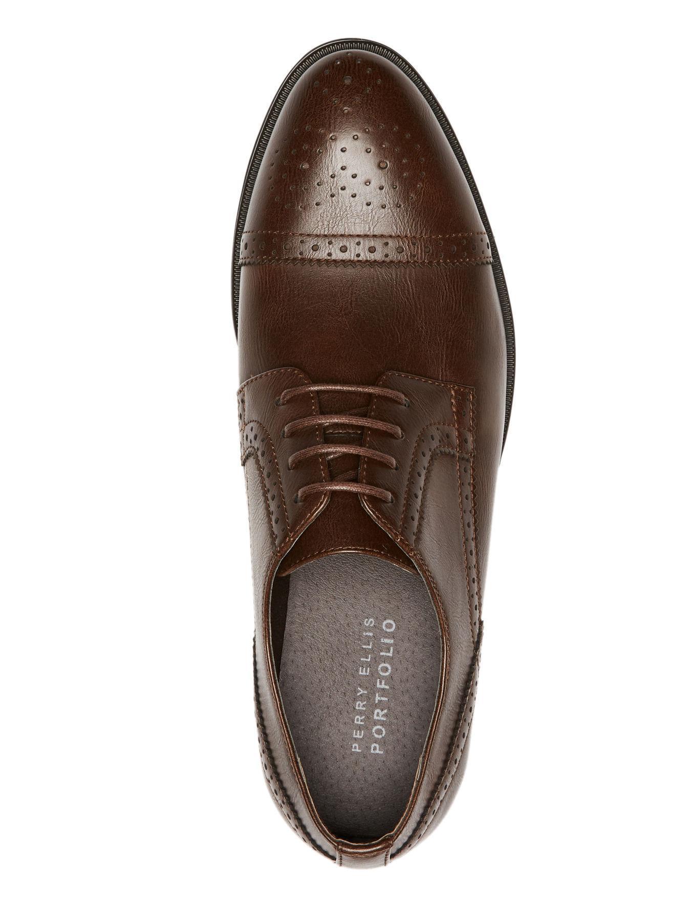 3bebc89681 Perry Ellis - Brown Toby Dress Shoe for Men - Lyst. View fullscreen