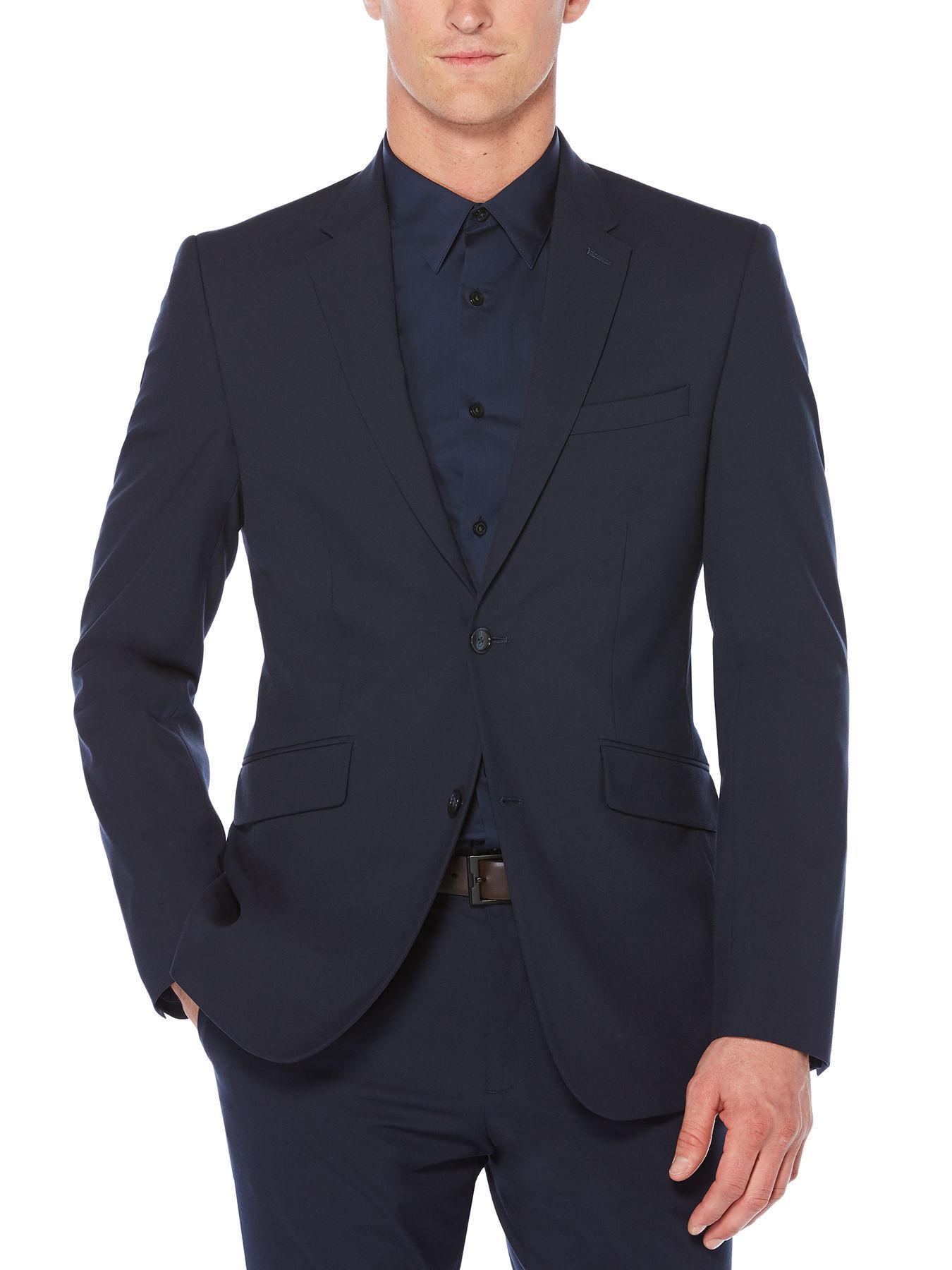 2387df3782 Lyst - Perry Ellis Slim Fit Tech Washable Suit Jacket in Blue for Men