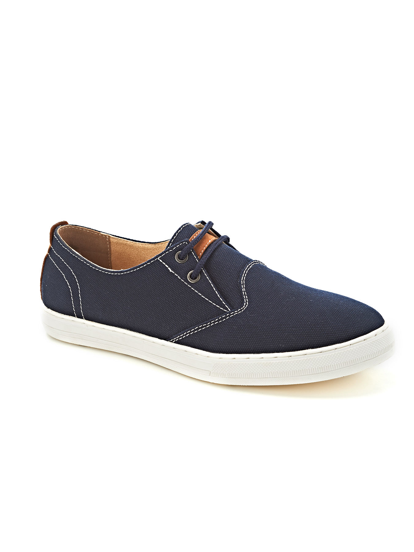 perry ellis tubbs canvas sneaker in blue for navy lyst