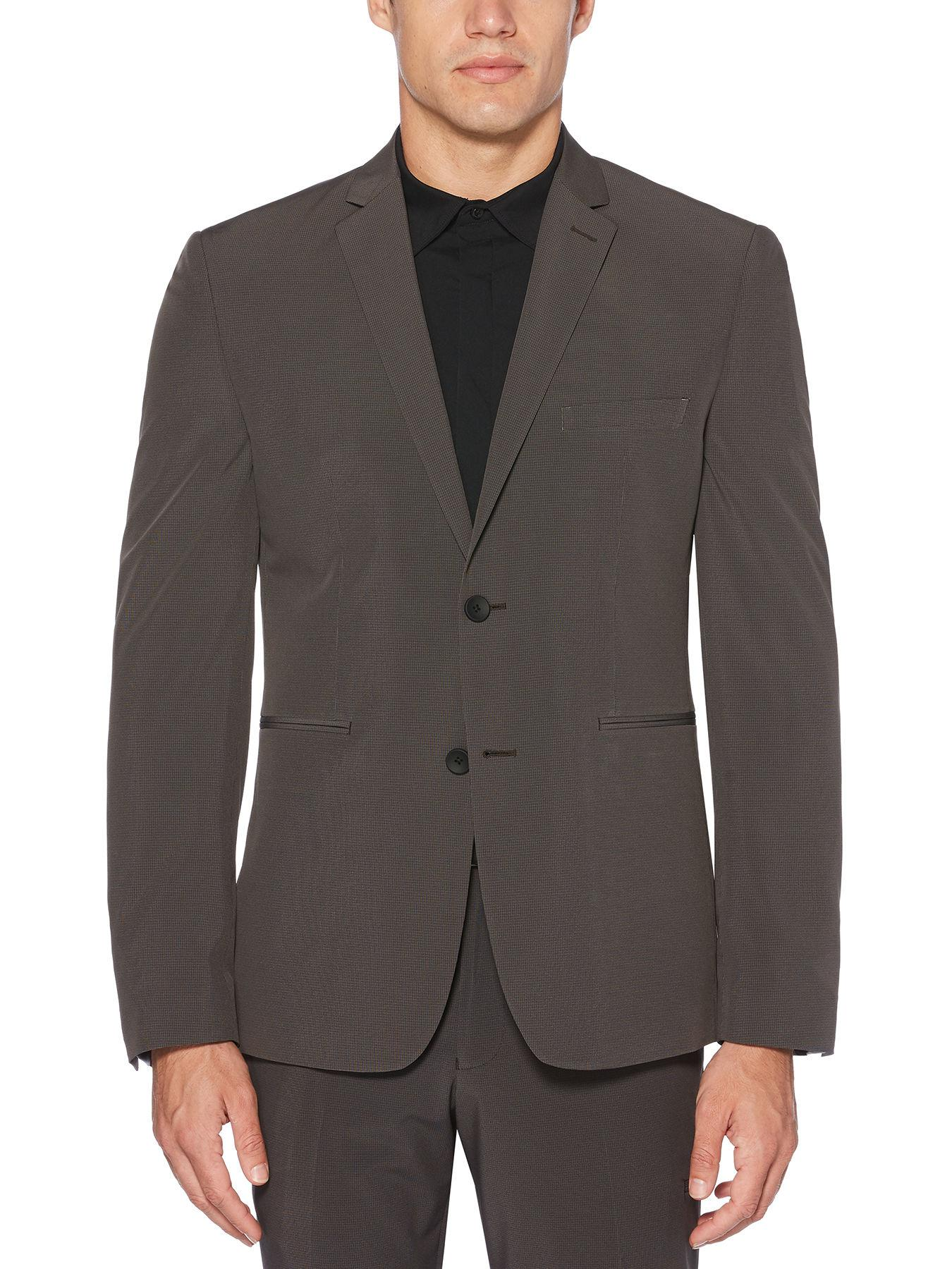 510f4f149f Lyst - Perry Ellis Very Slim Fit Washable Grey Check Tech Suit ...
