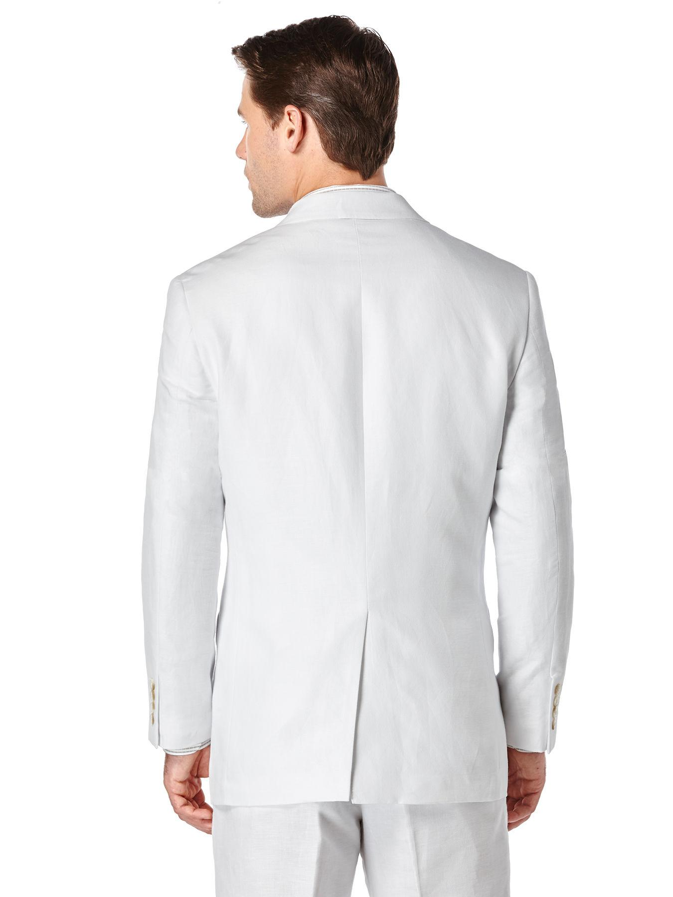 Perry Ellis Big Tall Linen Twill Suit Jacket In White For Men Lyst