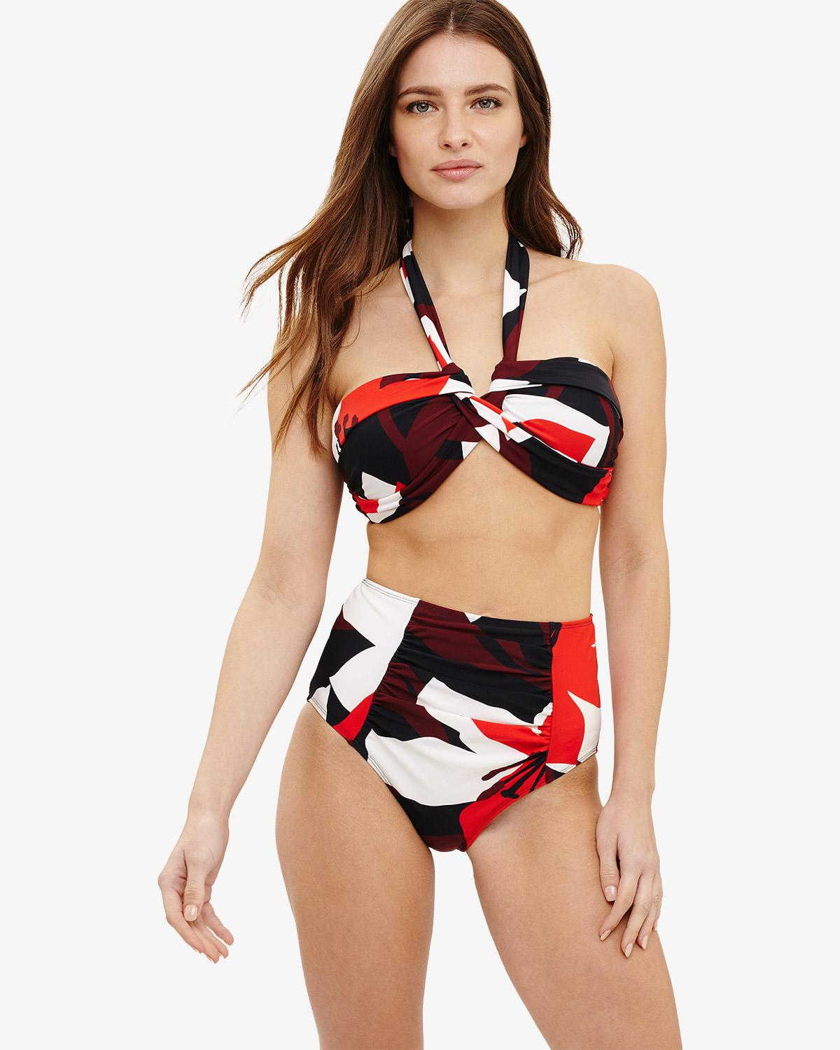 ccb83bcd65 Phase Eight Multi-coloured Lana Floral Print Bikini Top in Red - Lyst