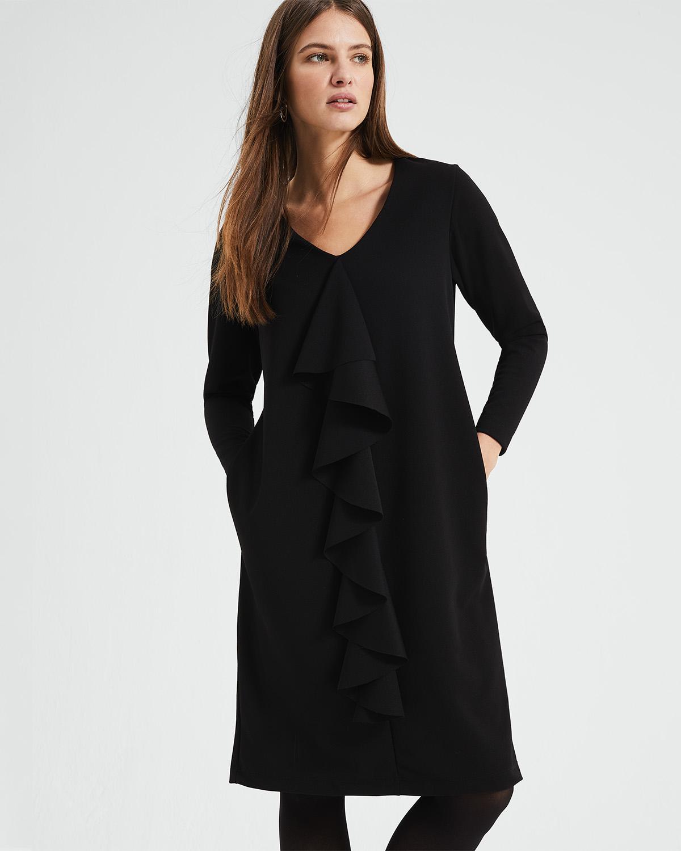 f1646b94187a4e Phase Eight - Black Massy Centre Ruffle Dress - Lyst. View fullscreen