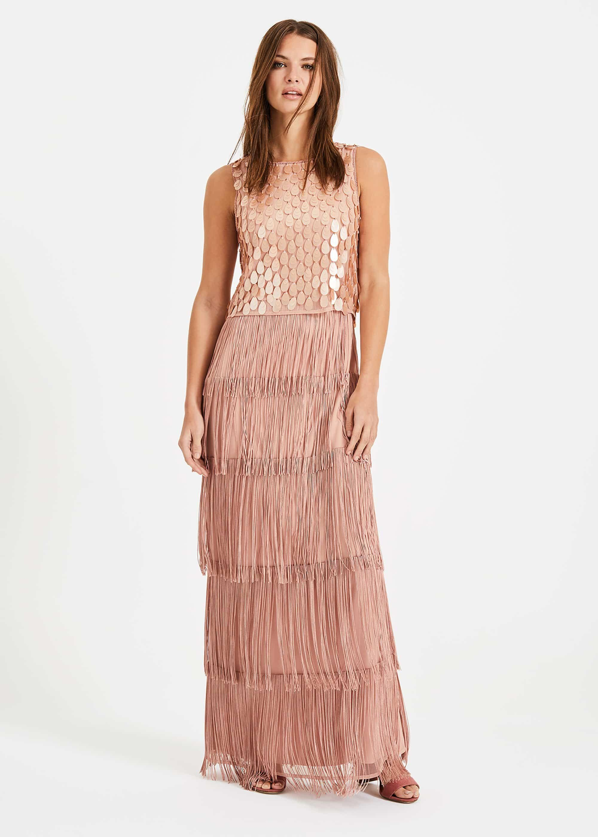 8e75dbb15a0f Phase Eight Pink Amandine Fringe Dress in Pink - Lyst