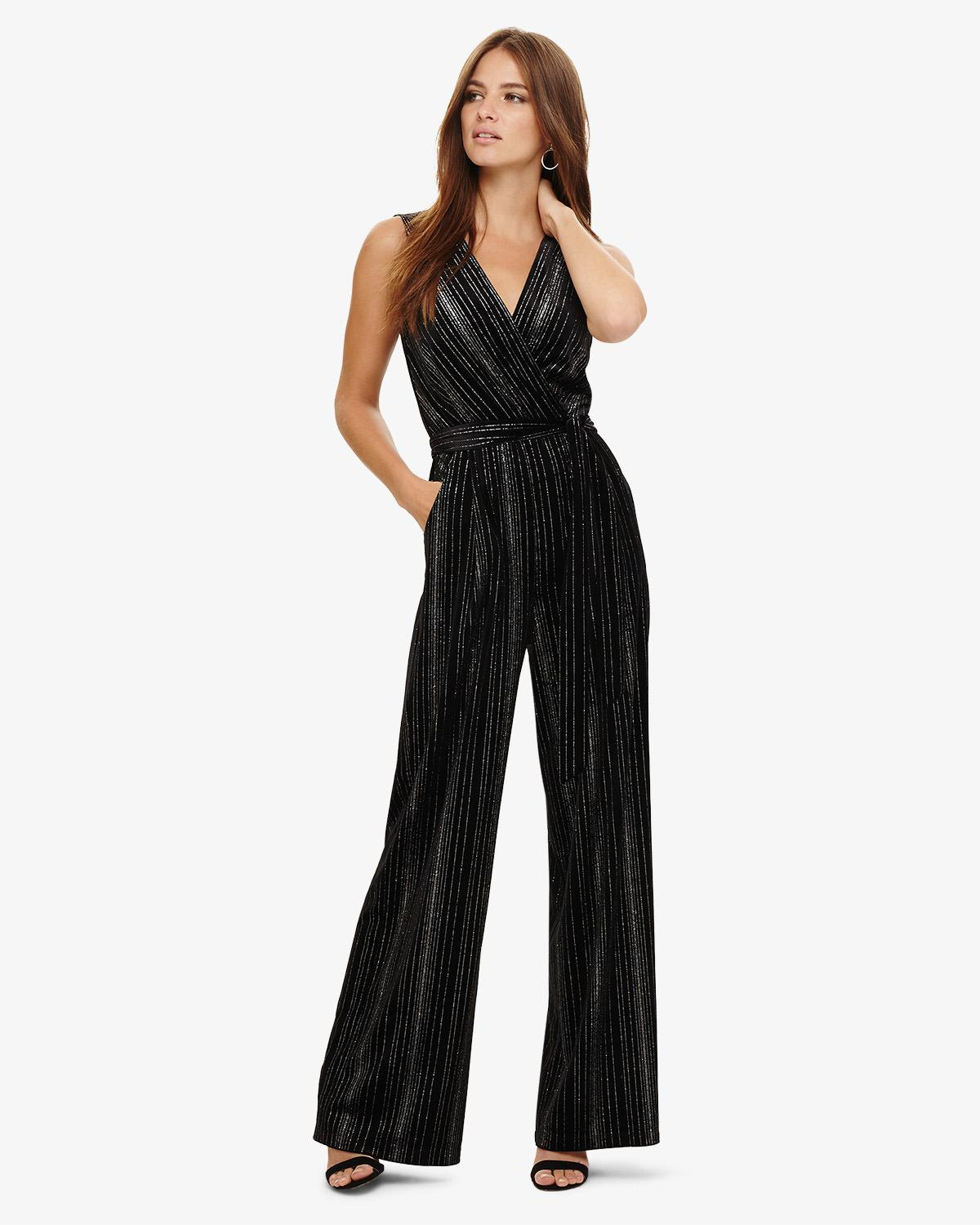 8ad6e1f6ce Phase Eight Lacy Velvet Jumpsuit in Black - Save 15% - Lyst