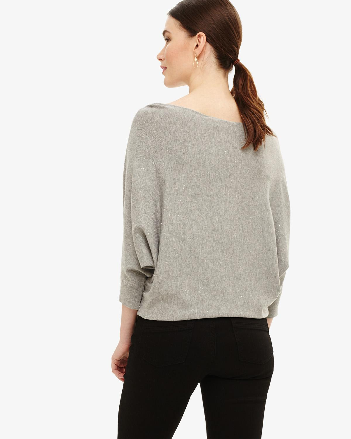ec2471a560b Lyst - Phase Eight (t) Sparkle Becca Batwing in Gray