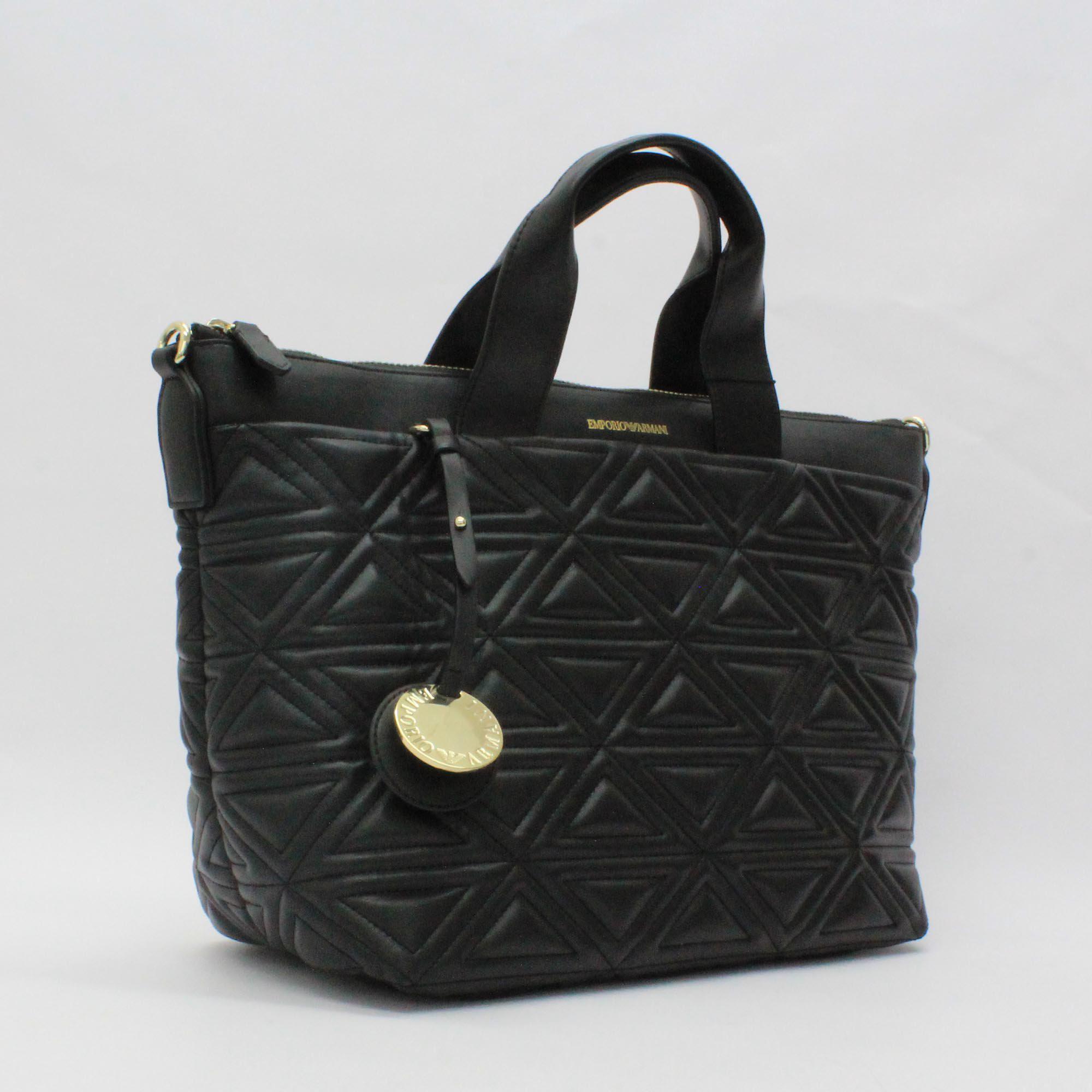 Armani - Emporio Triangle Quilt Bag Black - Lyst. View fullscreen 547c0360d1666