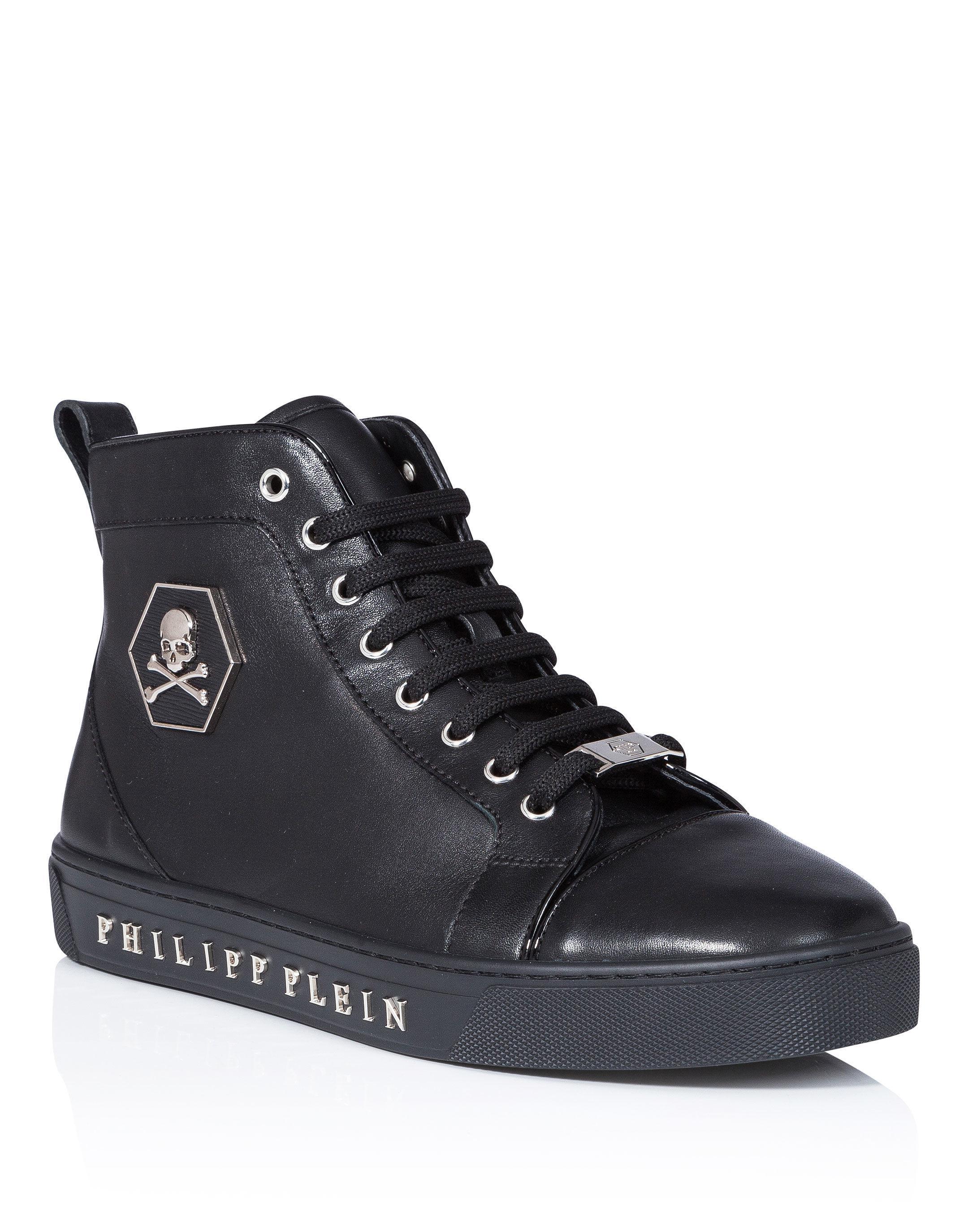 "Philipp Plein Hi-Top Sneakers ""Black one"""