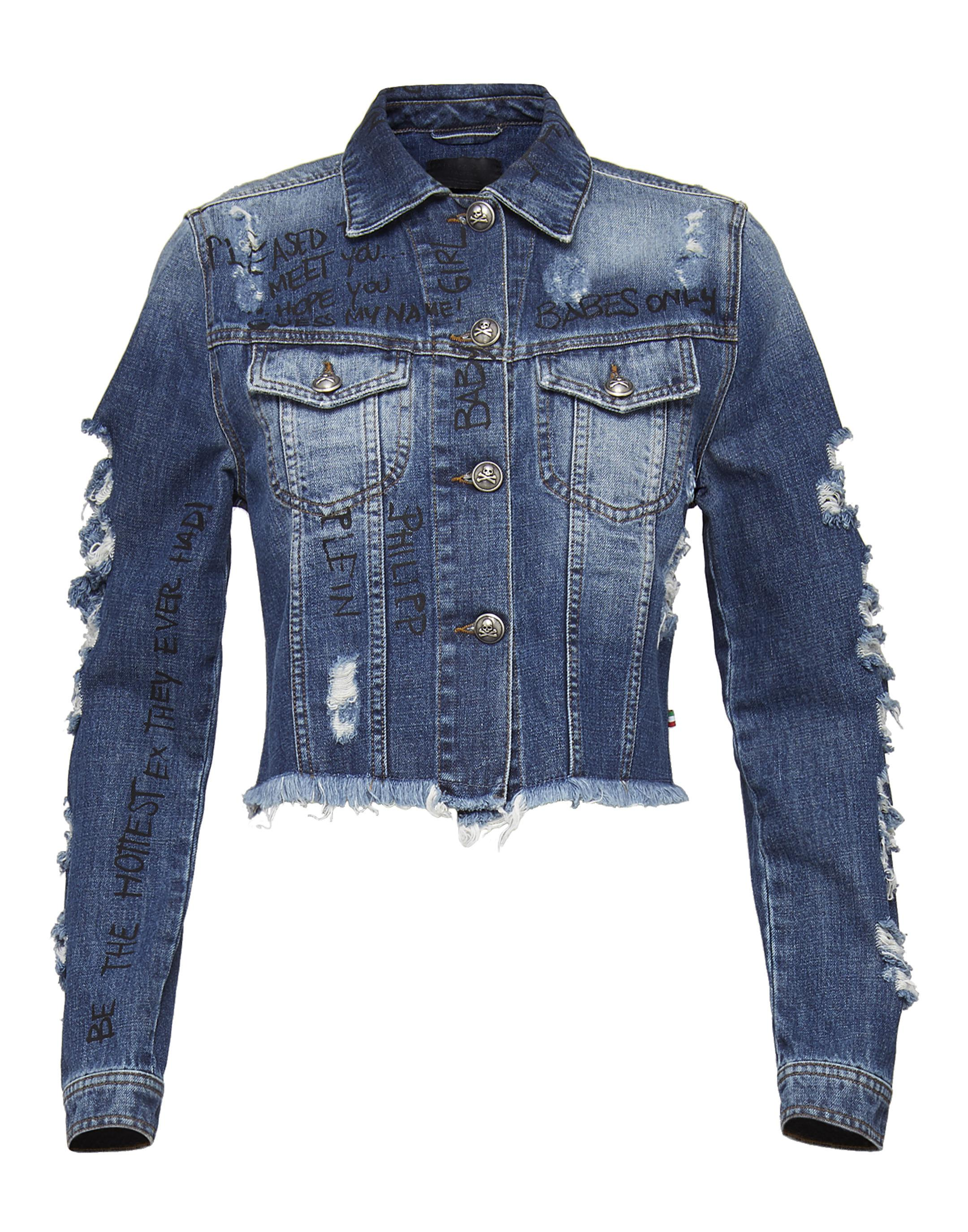 9b3afda9b91 Lyst - Philipp Plein Denim Jacket