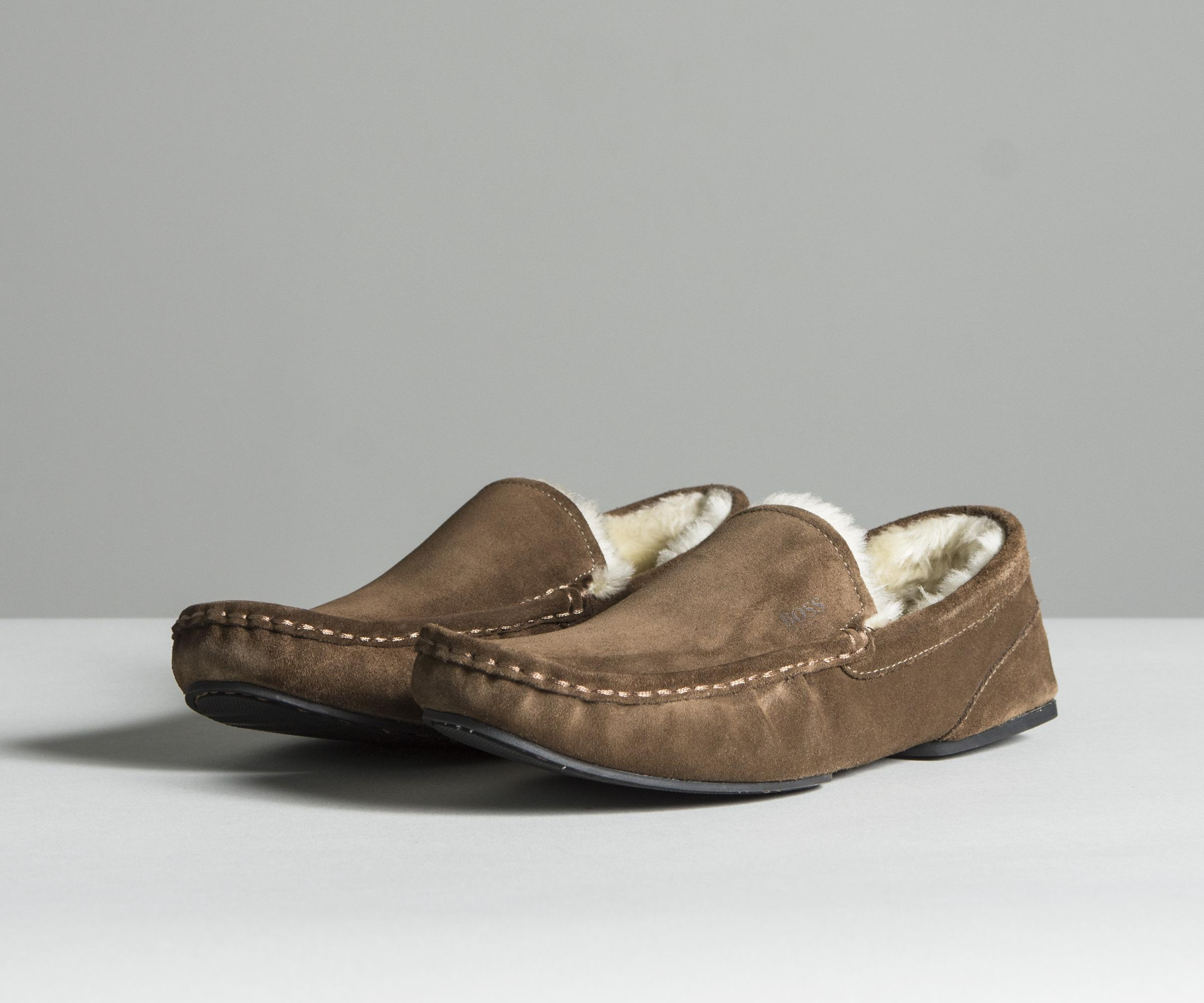 3bee19a7883 Lyst - BOSS  relax mocc sdf  Slip-on Suede Moccasins Brown in Brown ...
