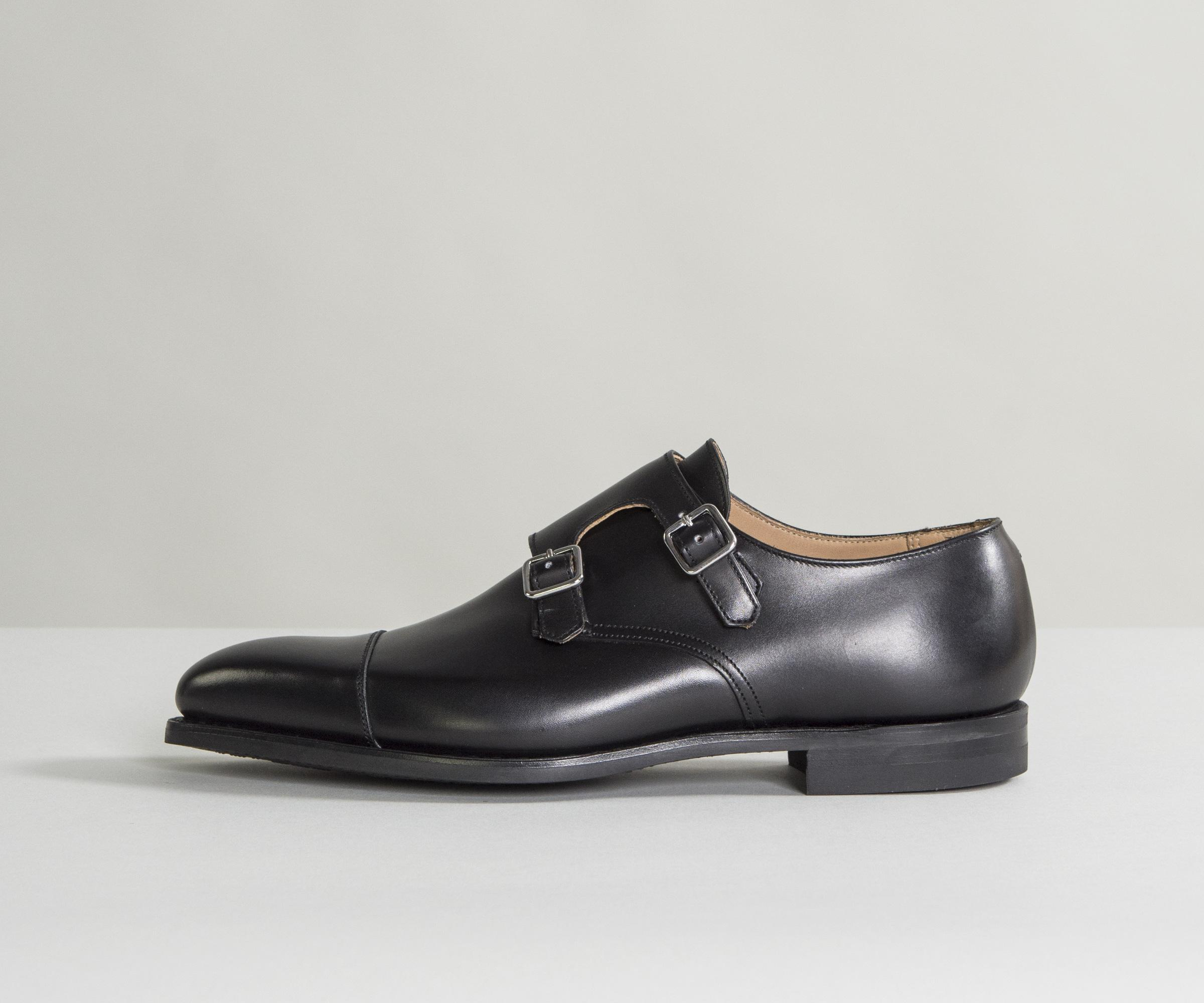 Buy Cheap 2018 Footlocker Finishline Cheap Price Lowndes Calf Leather Double Monk Shoes With City Soles Black Crockett & Jones Cheap And Nice In China Sale Online 3asBuFKw