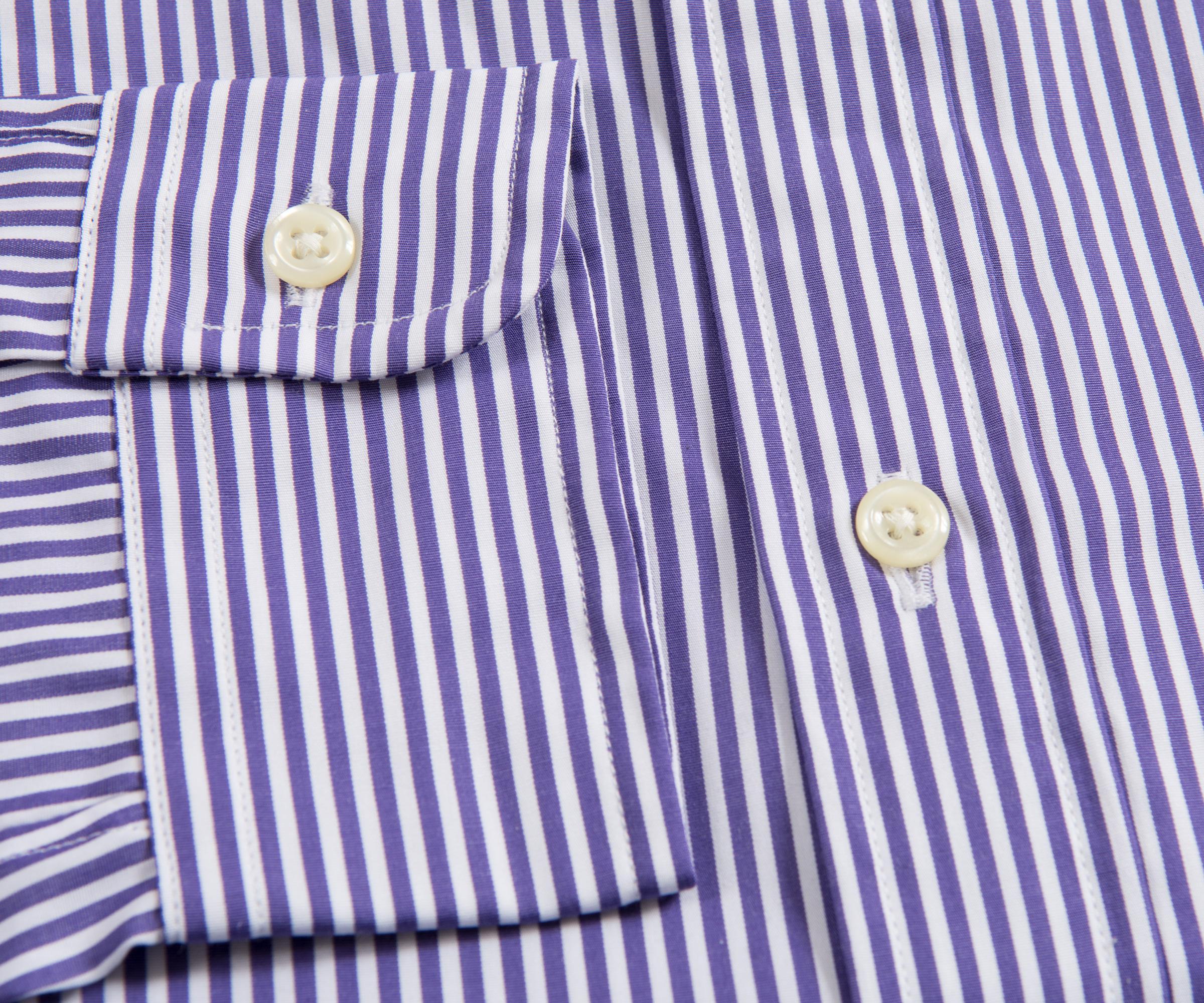64d028e8 Ralph Lauren Slim Fit Button Down Bengal Stripe Mauve Purple/white ...