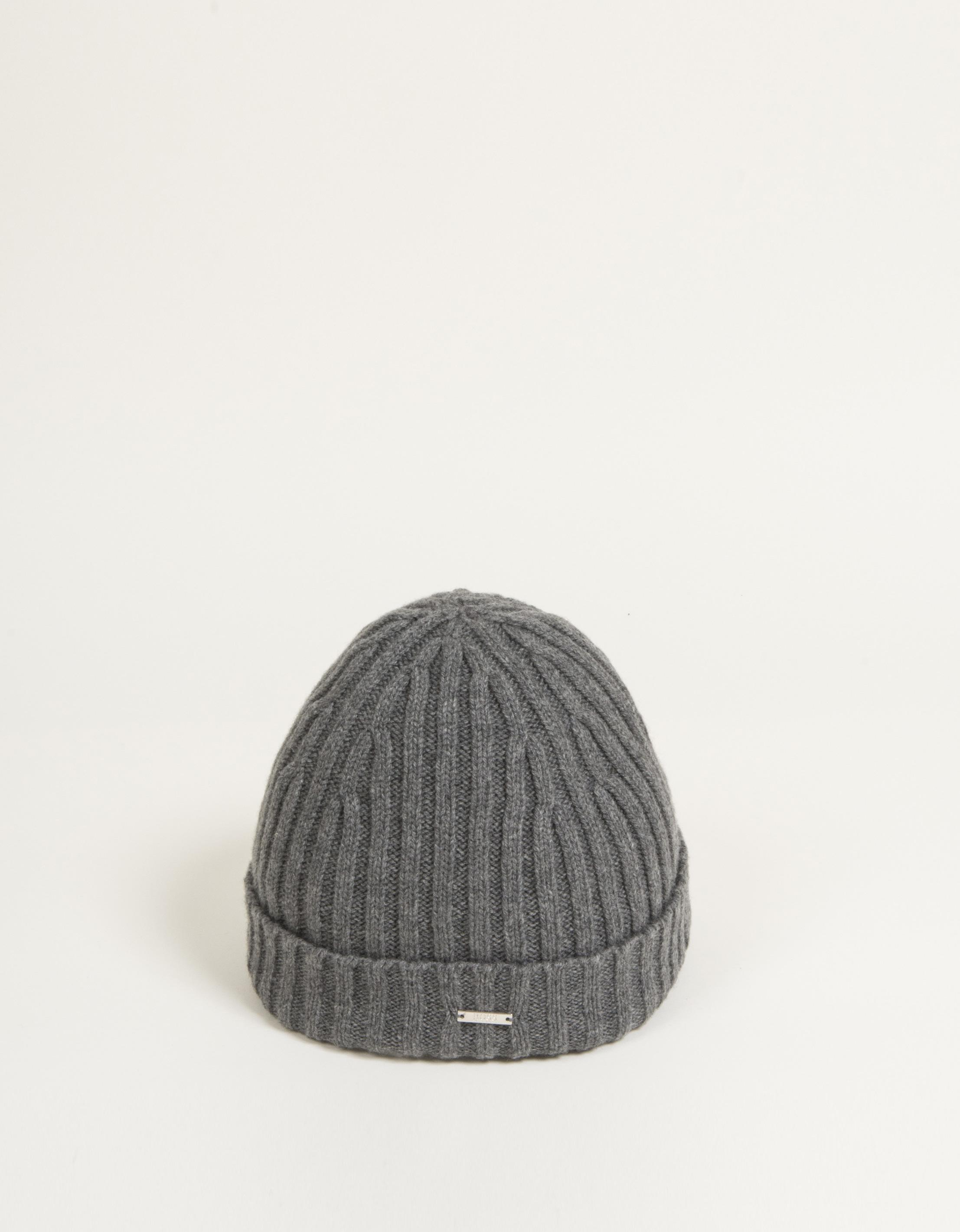 bb1d8d30 BOSS 't-benzo' Cashmere Classic Ribbed Beanie Hat Grey in Gray for ...