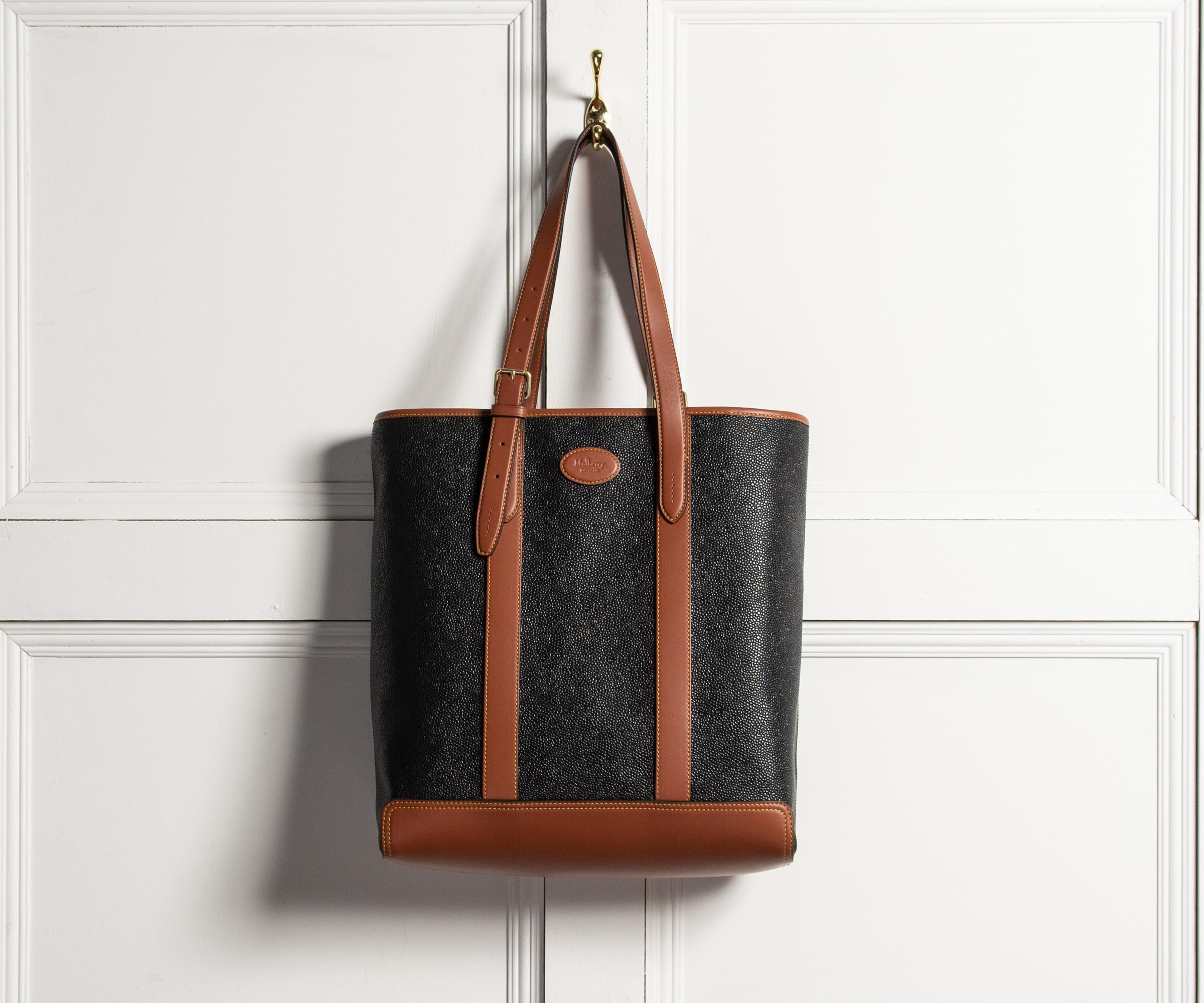 de2f8d375a Lyst - Mulberry Heritage Tote Cognac   Black in Black for Men