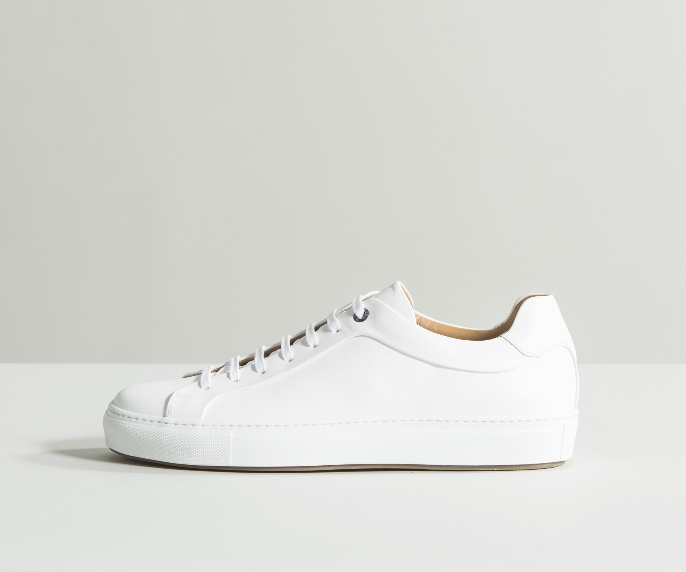 Mirage Burnished-leather Sneakers HUGO BOSS lB42BlIv