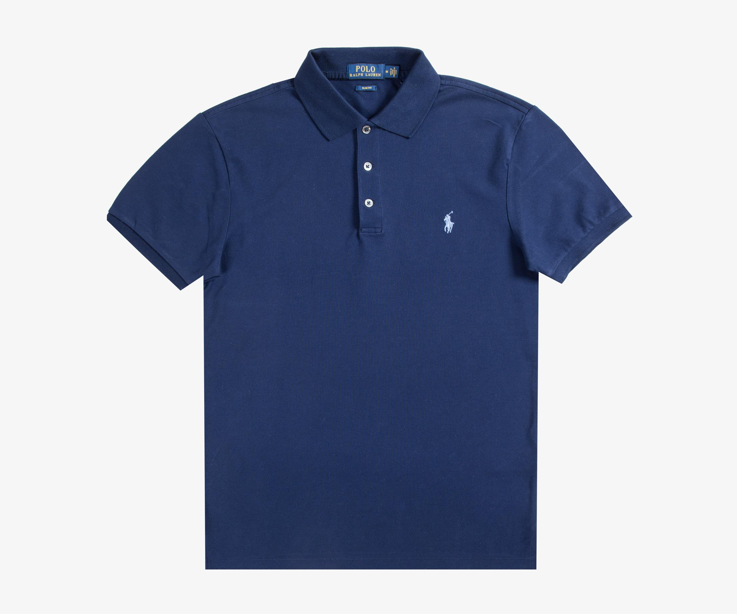 faf0bbcb Ralph Lauren Slim Fit Stretch Mesh Polo French Navy in Blue for Men ...