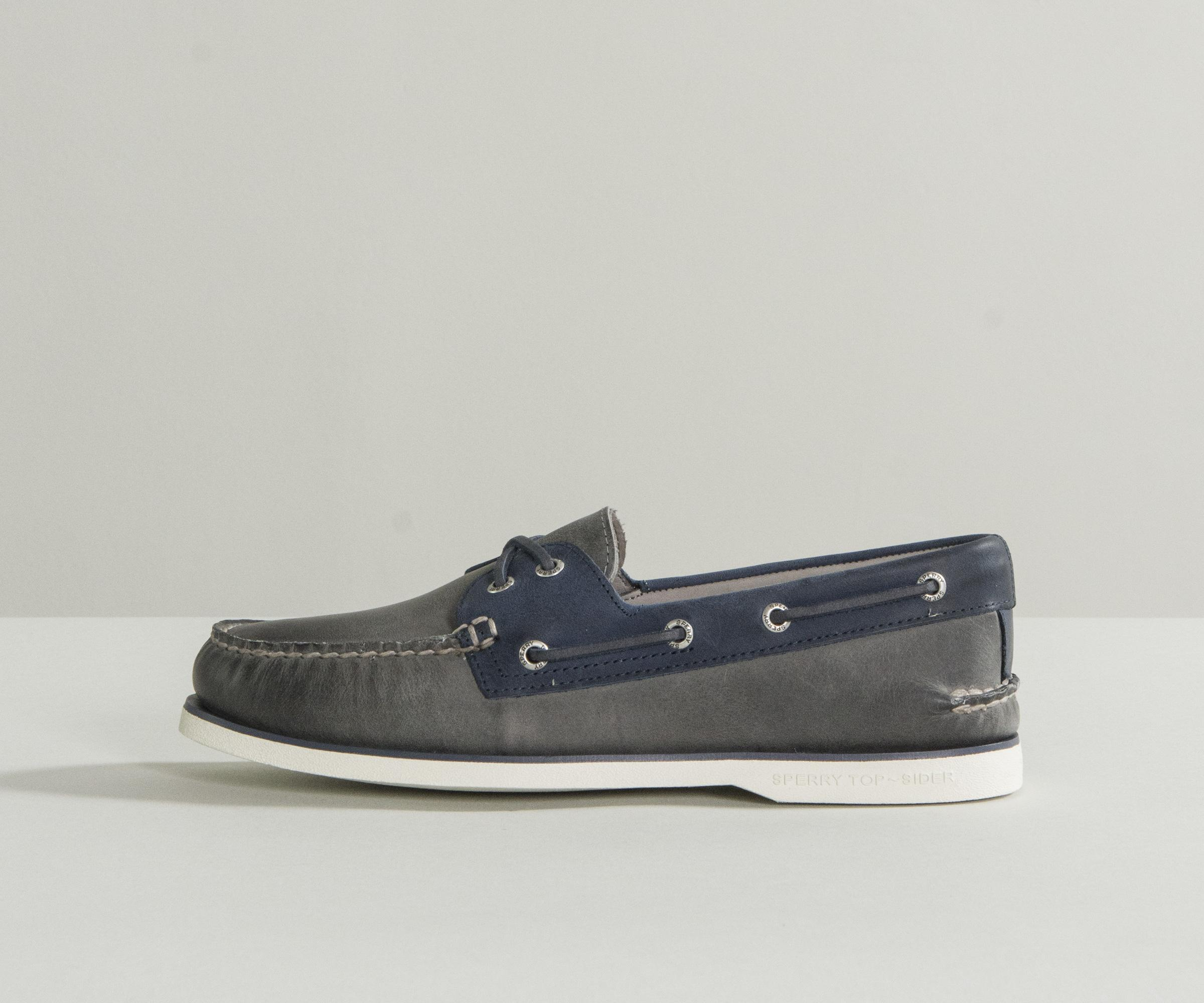 e07abfdfda4 Lyst - Sperry Top-Sider  gold Cup  Luxury Deck Shoe Grey navy in ...