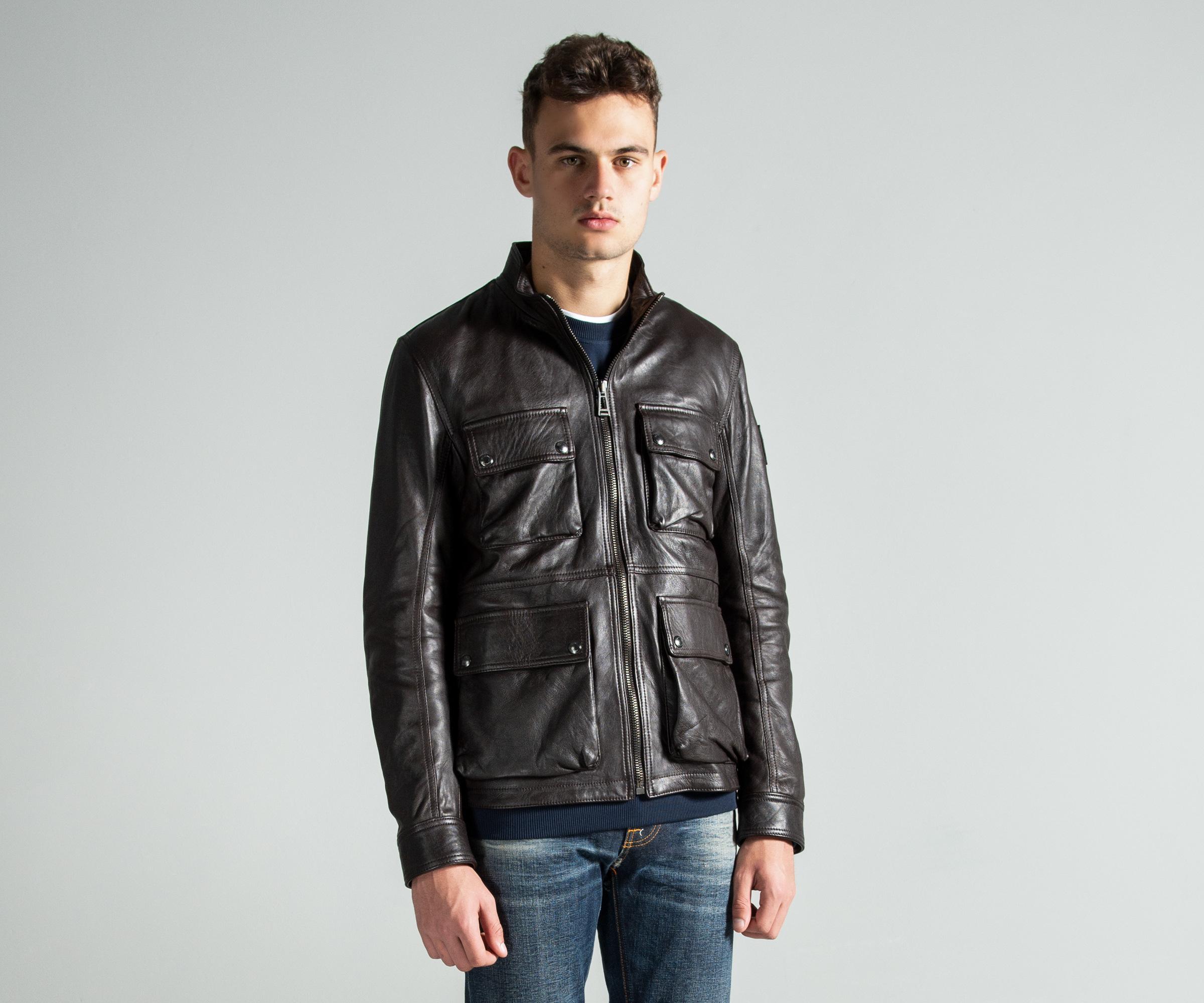 13f7d7609375 Belstaff -  new Brad  Leather Jacket Brown for Men - Lyst. View fullscreen