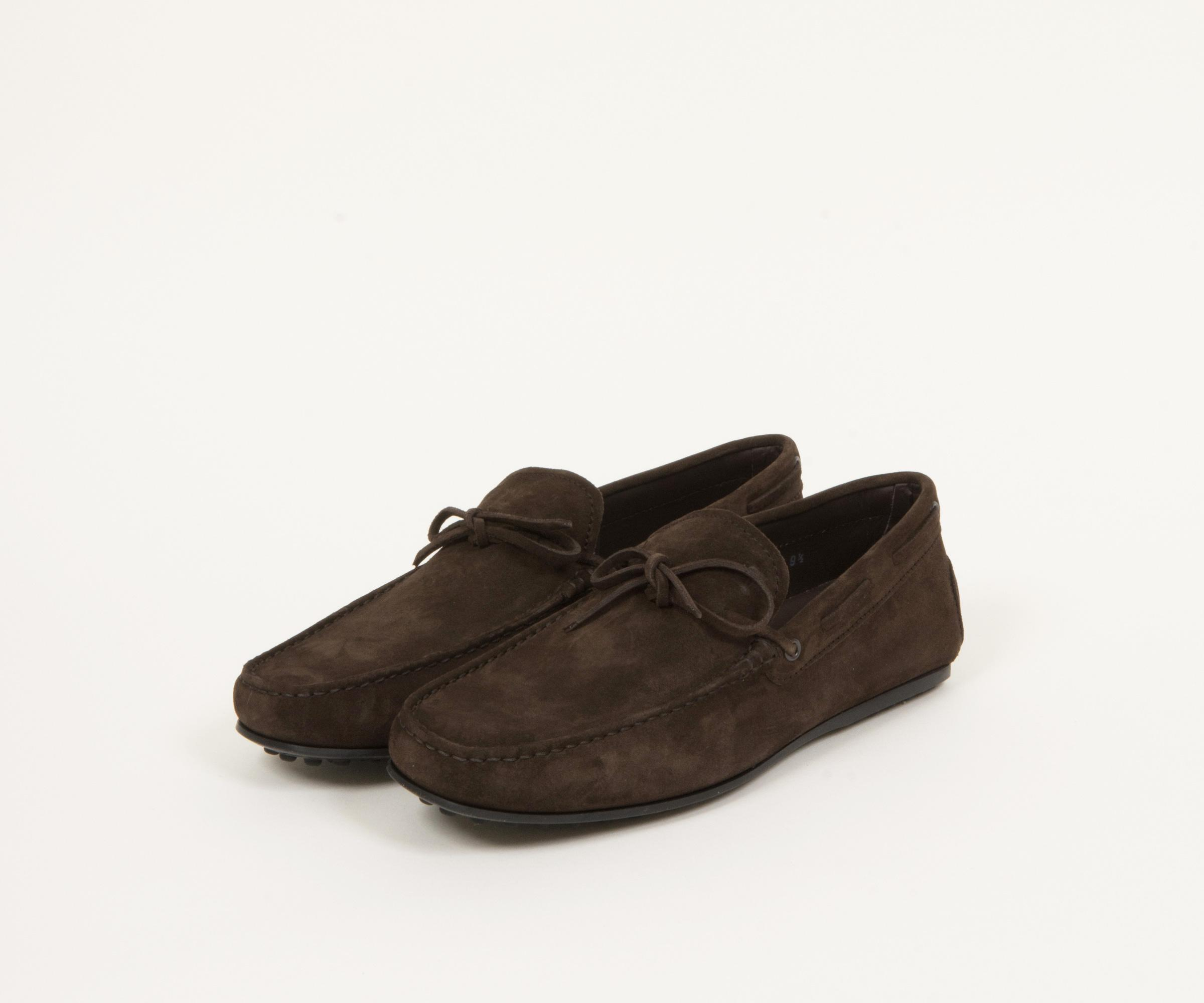8f4269dbb9a Lyst - Tod s City Gommino Suede Driving Shoes Dark Brown in Brown ...