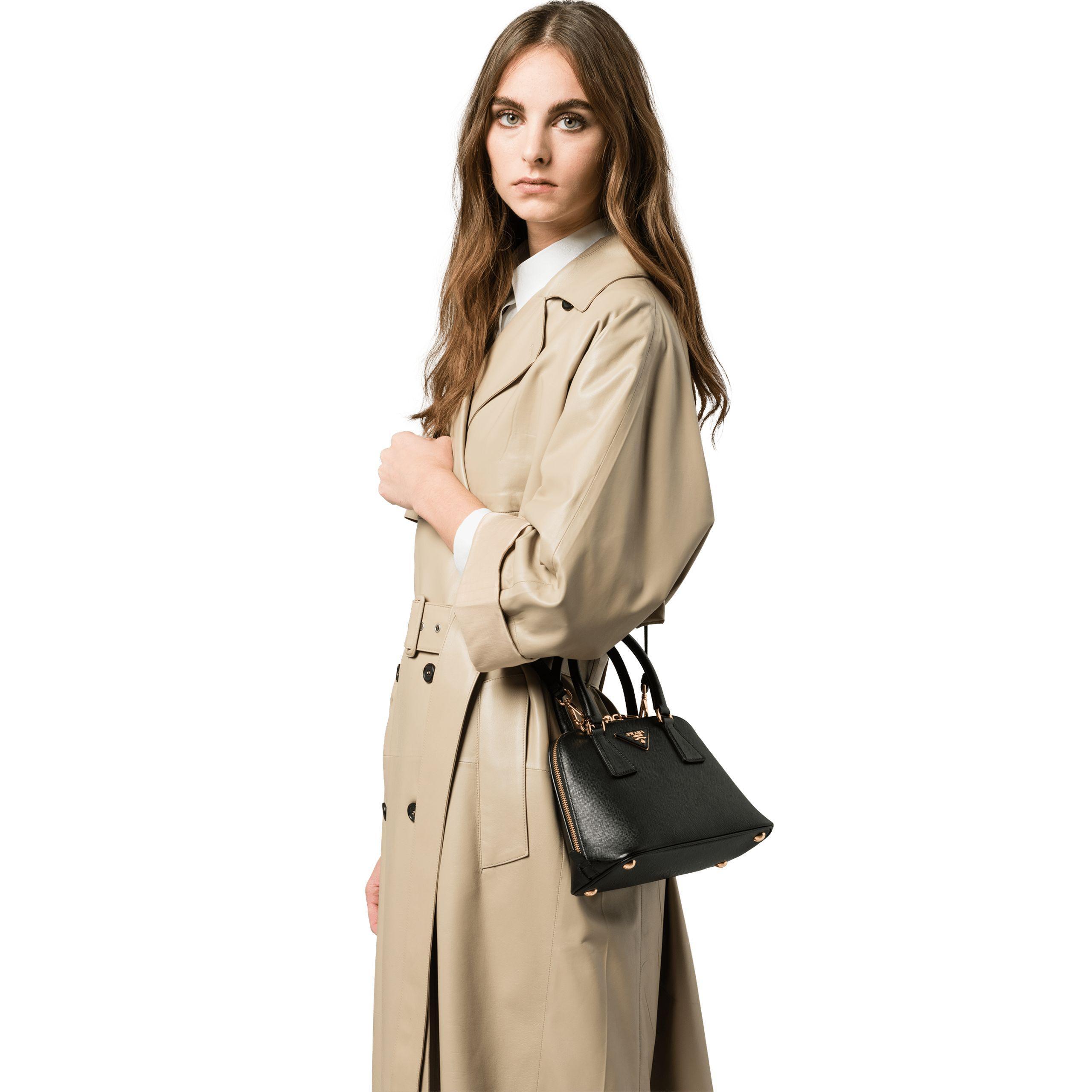 c3769e7b464d Lyst - Prada Promenade Saffiano Leather Bag in Black