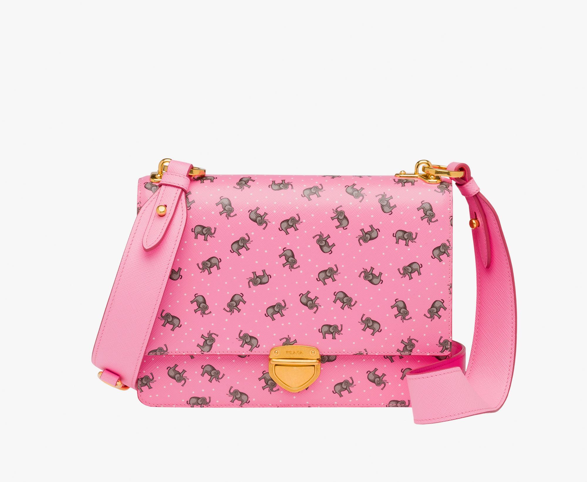 8ae6add621 ... italy lyst prada elephant saffiano leather crossbody bag in pink 9bac1  31131 ...