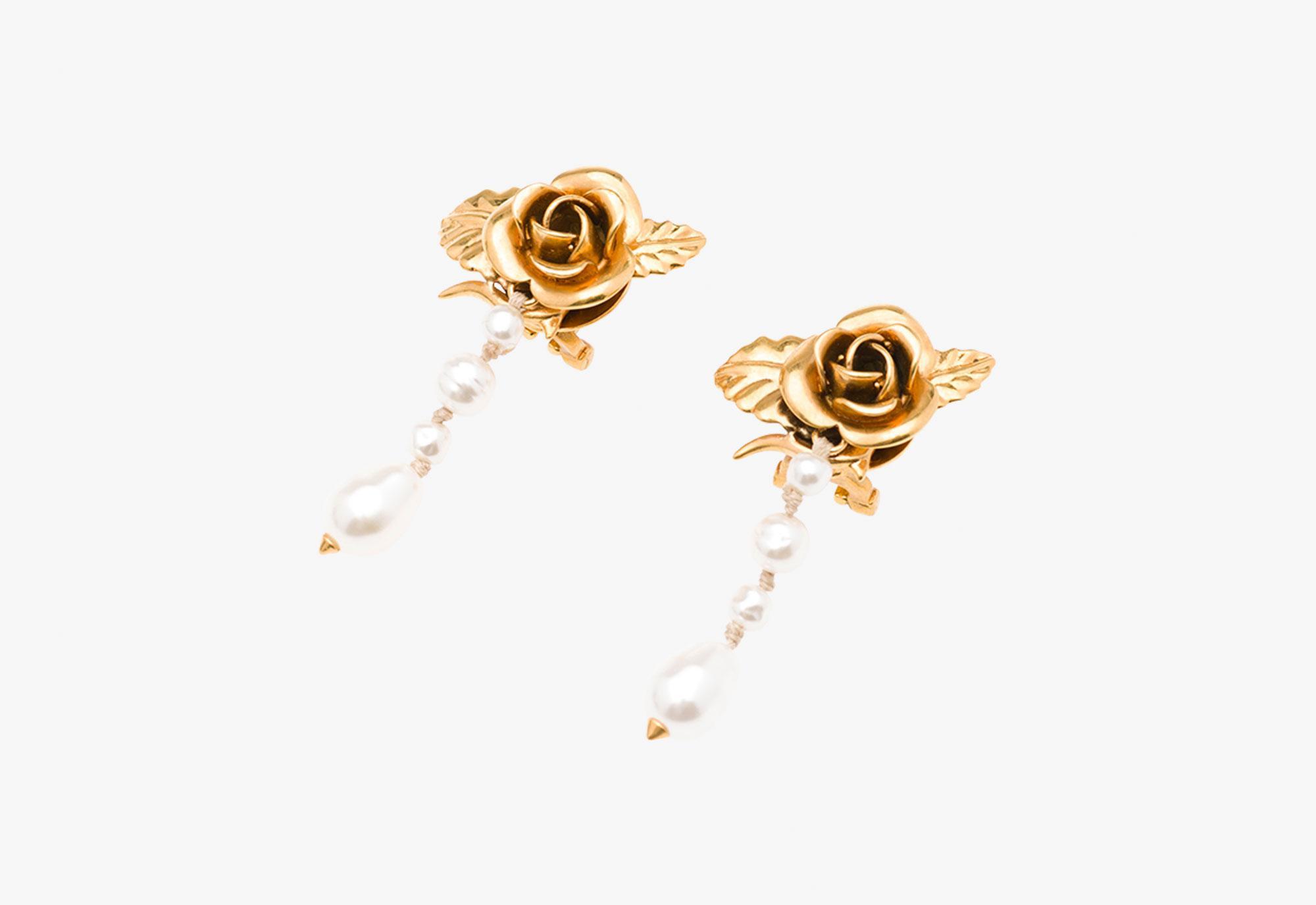 Brass earrings Prada nQyidhH