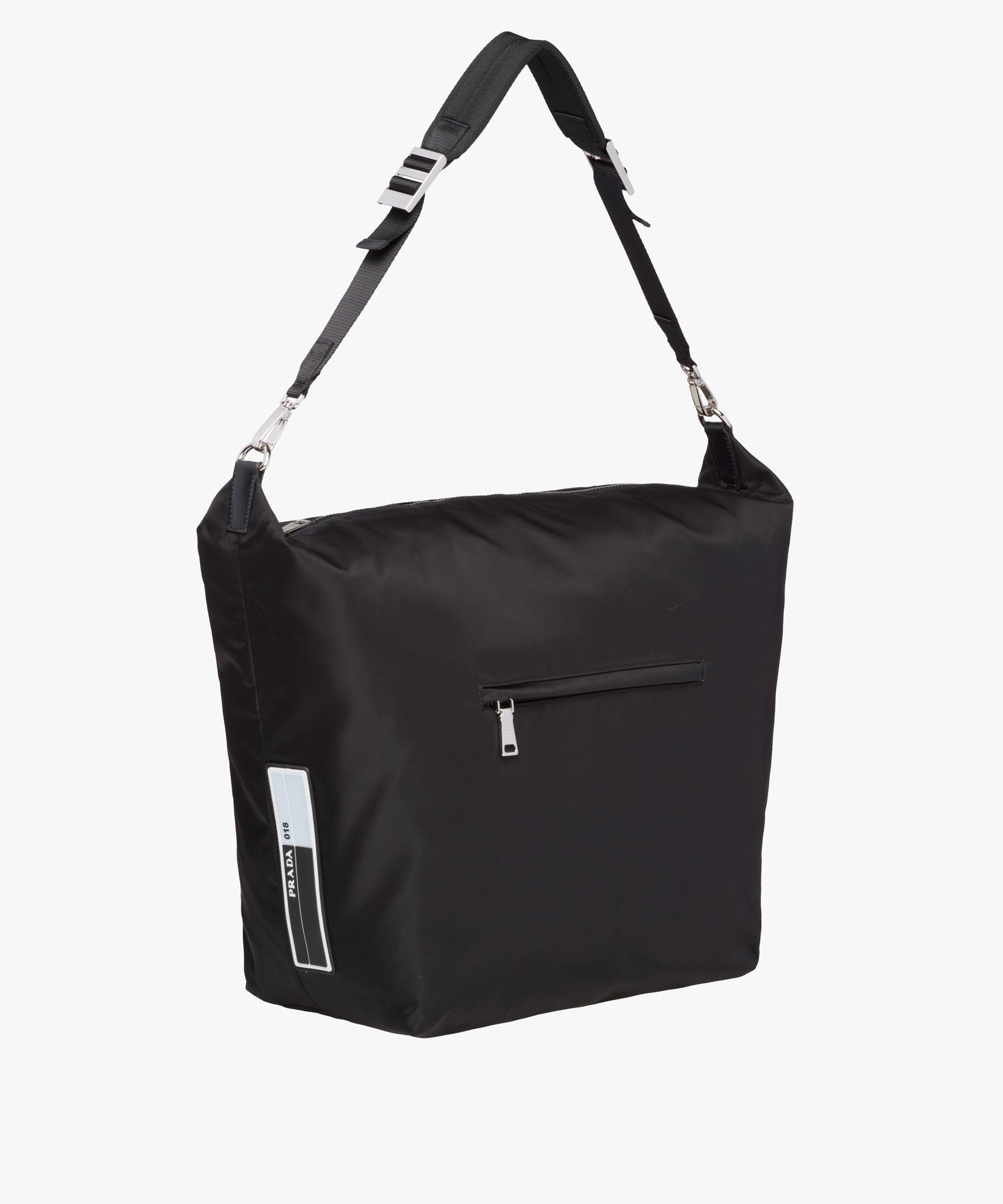 202aba1a9a11be ... coupon for lyst prada technical fabric hobo bag with shoulder strap in  black c8772 4fd3d