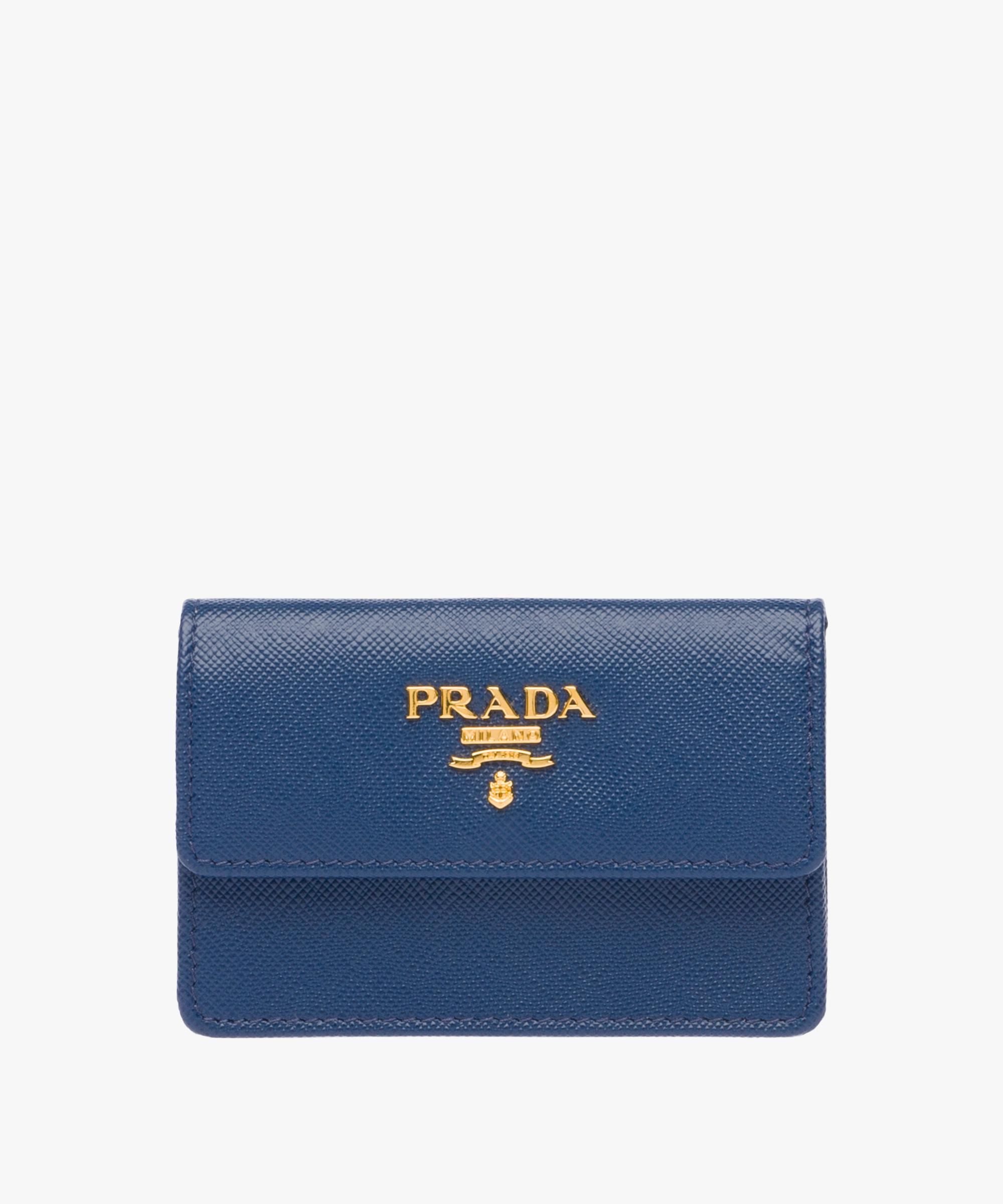 Lyst prada business card holder in blue gallery colourmoves