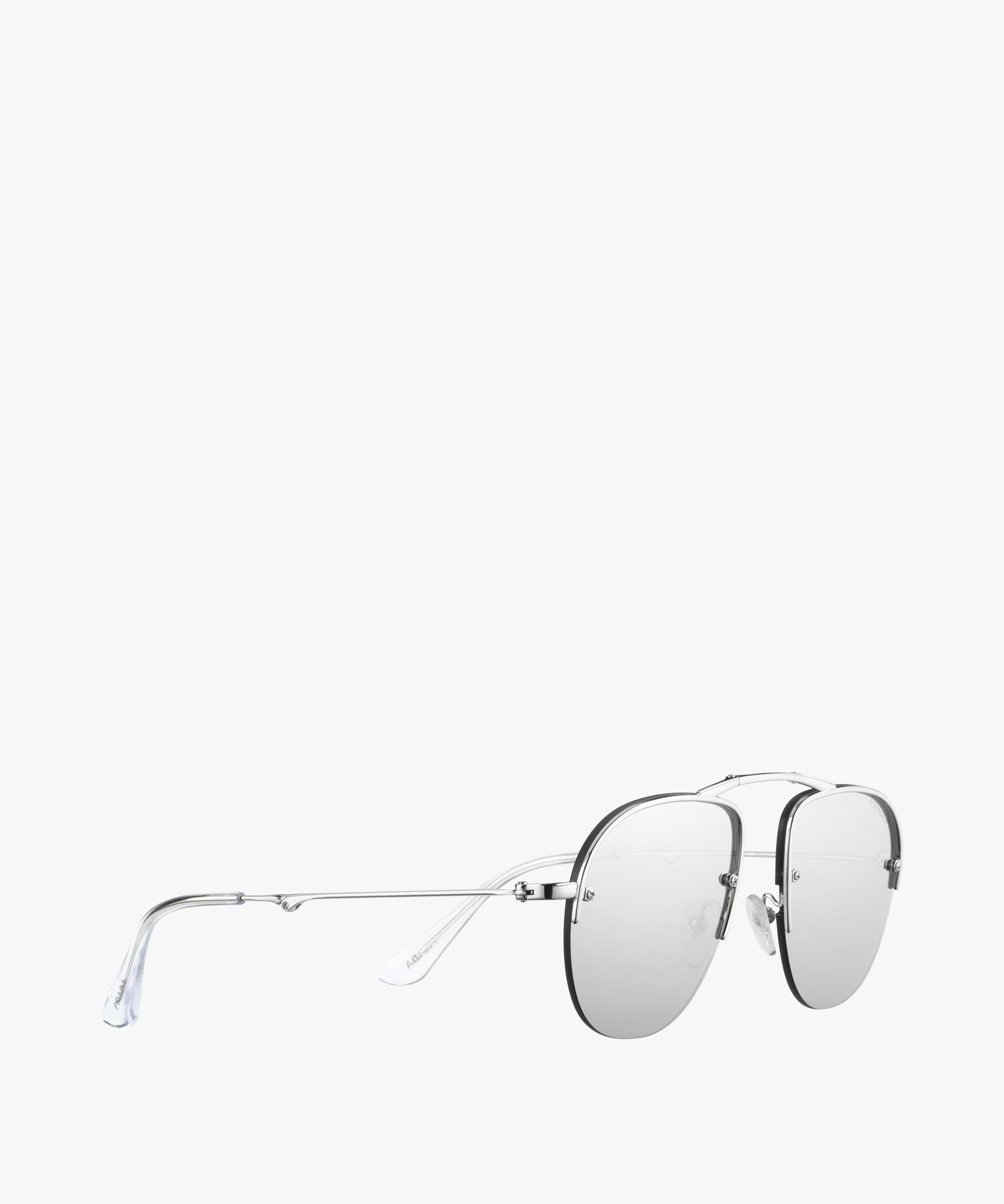 lyst prada teddy eyewear folding in metallic for men  gallery