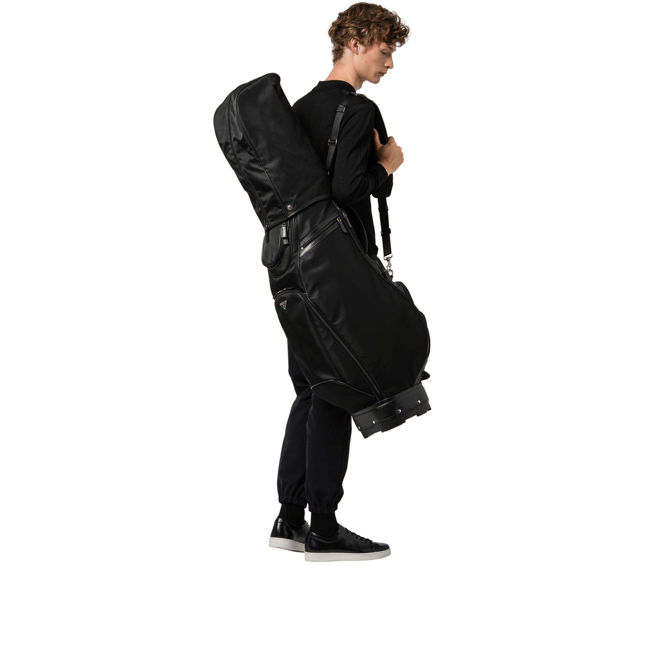 6c1d6ab5c33d Lyst - Prada Techical Fabric Golf Bag in Black for Men