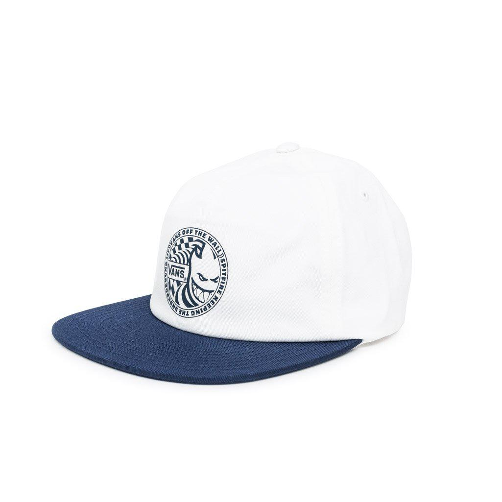d88bf11b99a Vans - White X Spitfire Shallow Unstructured Cap for Men - Lyst. View  fullscreen
