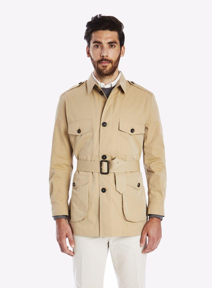 Lyst Private White V C Belted Cotton Safari Jacket In Natural For Men