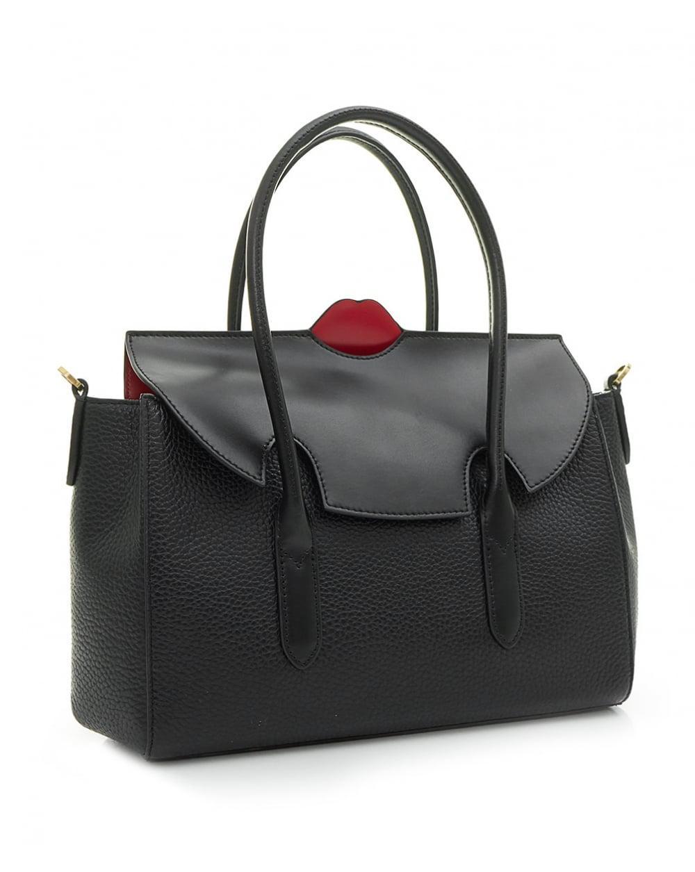 ae42c2d3b7ed Lyst - Lulu Guinness Pop Up Lip Flo Crossbody Bag in Black