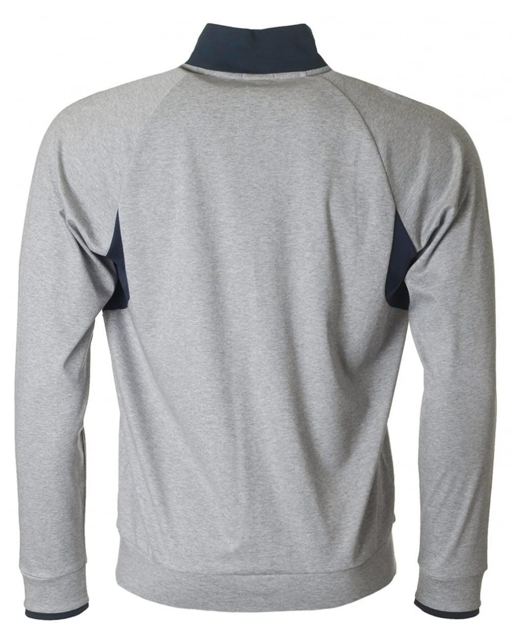 Lyst - Boss Athleisure Salvar Interlock Zip Through Sweat in Gray for Men 7d67a8af37b4