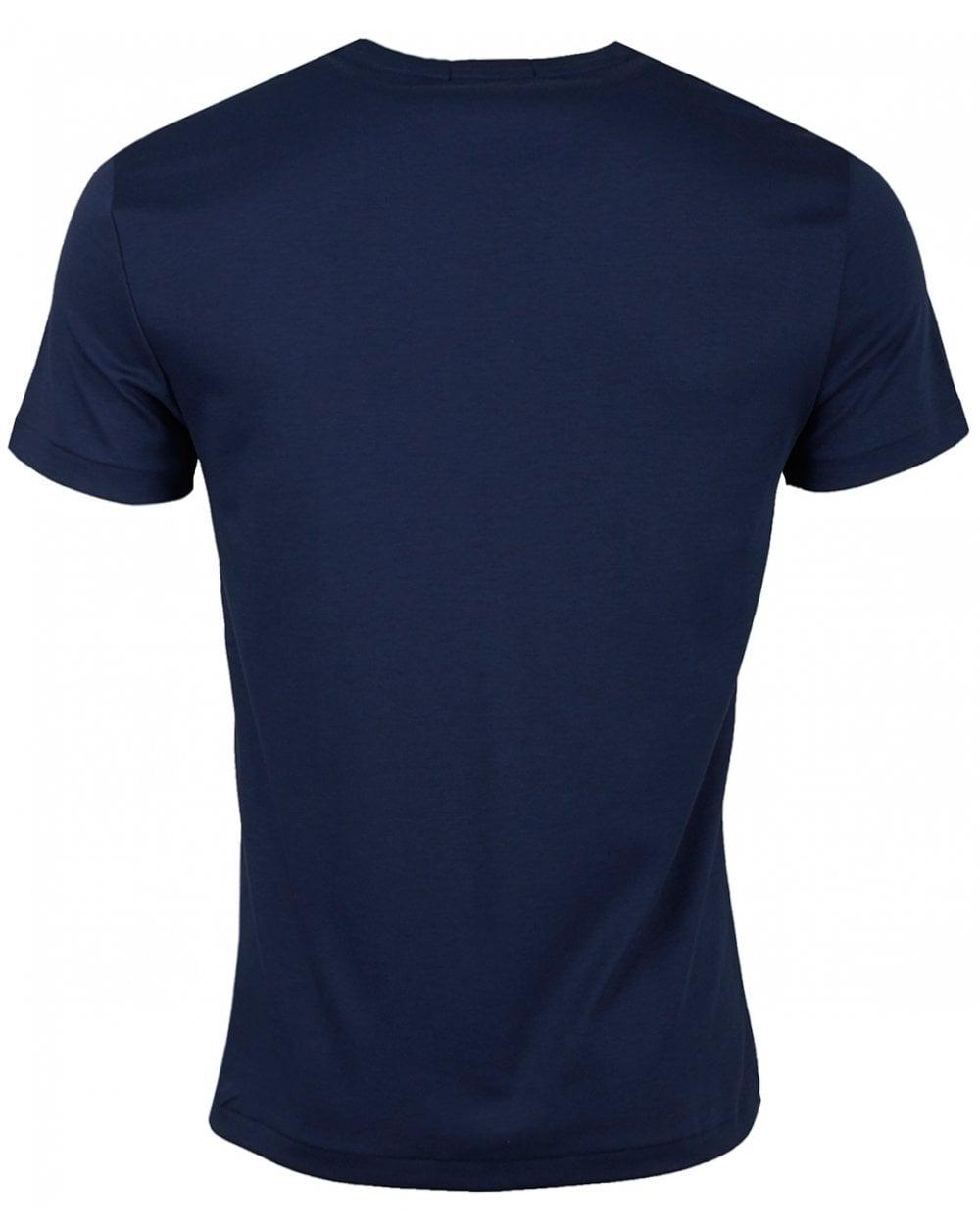 062c1d00a Polo Ralph Lauren Custom Fit Pima Cotton Crew Neck in Blue for Men ...