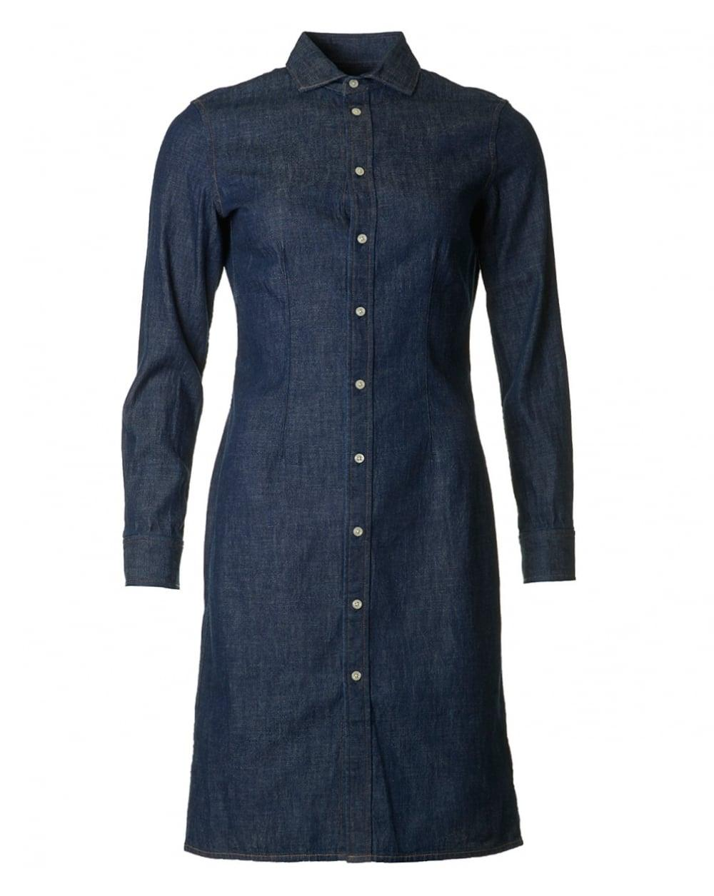 Lyst polo ralph lauren denim shirt dress in blue for Polo shirt and jeans