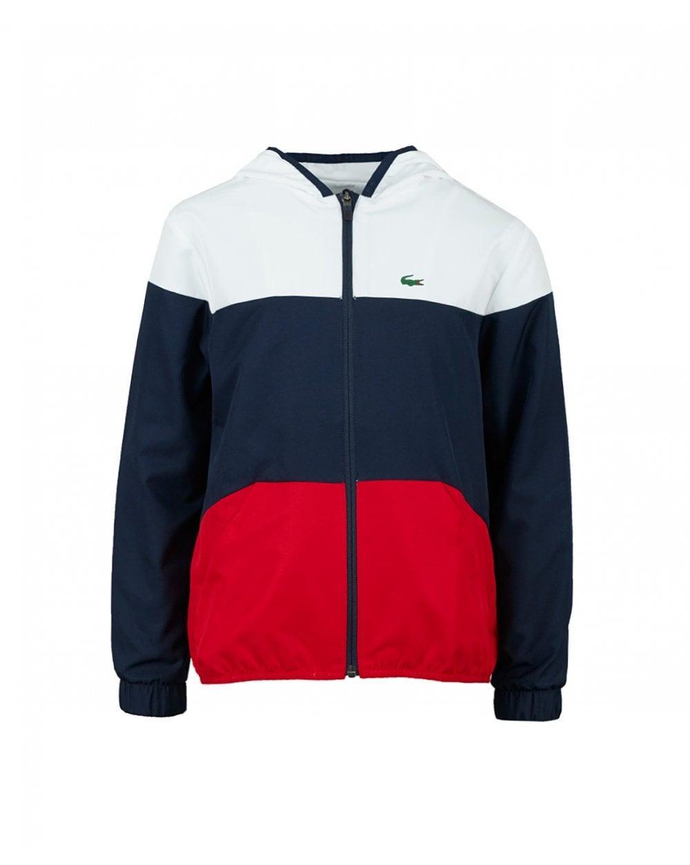 7c8f6fbf72f8 Lacoste Sport Tri Colour Lightweight Jacket in Blue for Men - Lyst