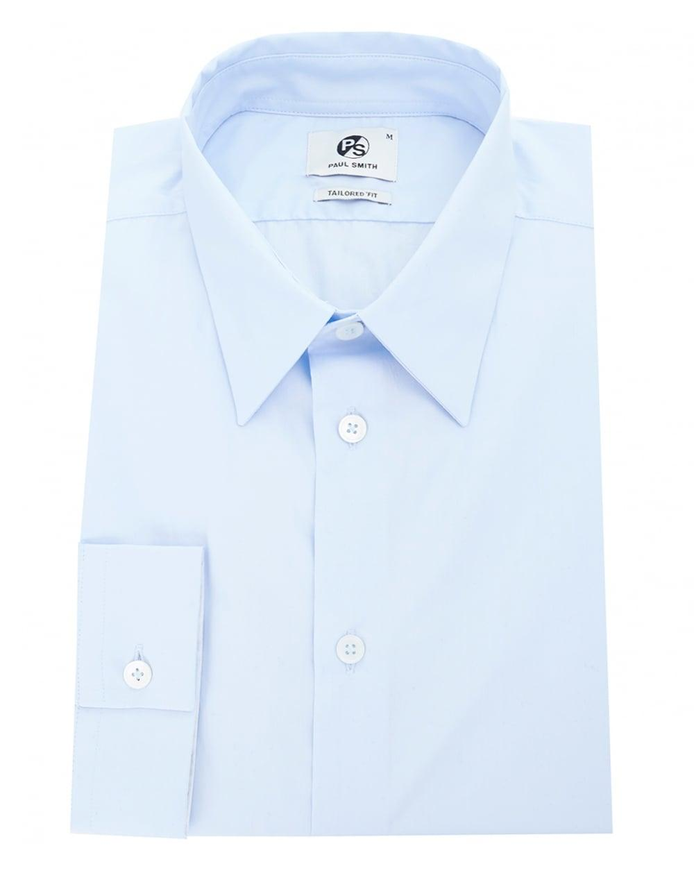 Paul smith tailored single cuff shirt in blue for men lyst for Single cuff dress shirt