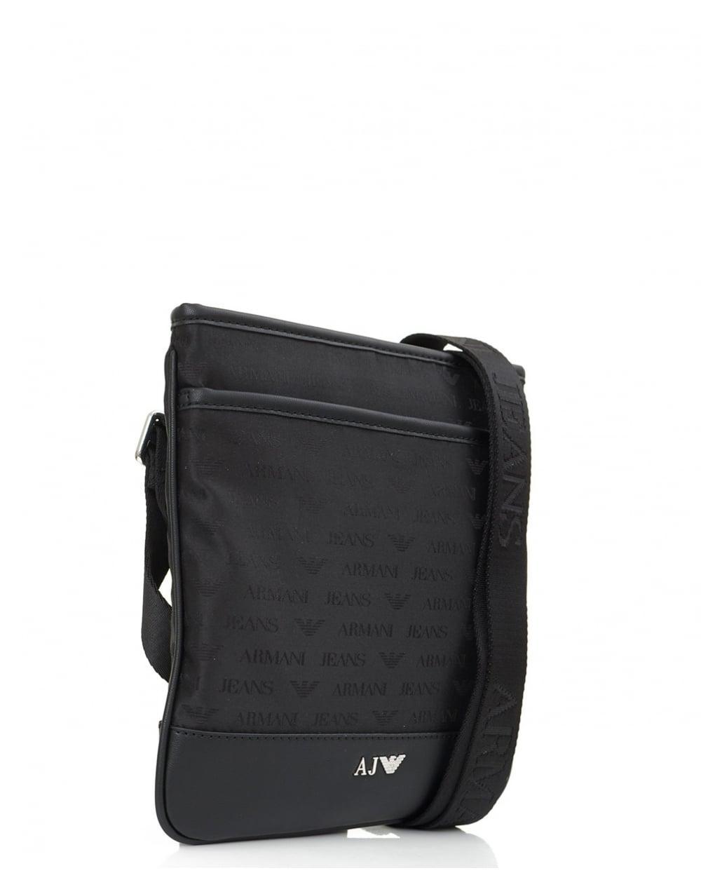 Lyst - Armani Jeans Small Embossed Nylon Logo Stash Bag in Black for Men 1d88155199a