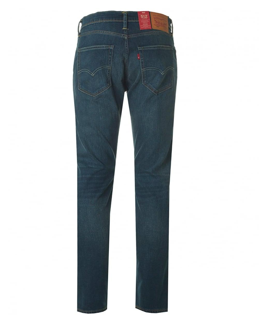 Levis 512 Slim Tapered Fit Jeans In Blue For Men Lyst