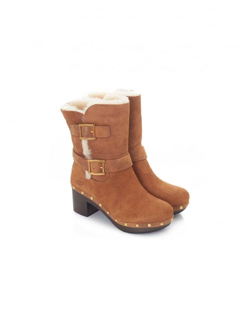 0f560fd021f Lyst - UGG Brea Clog Inspired Low Heel Boots in Brown