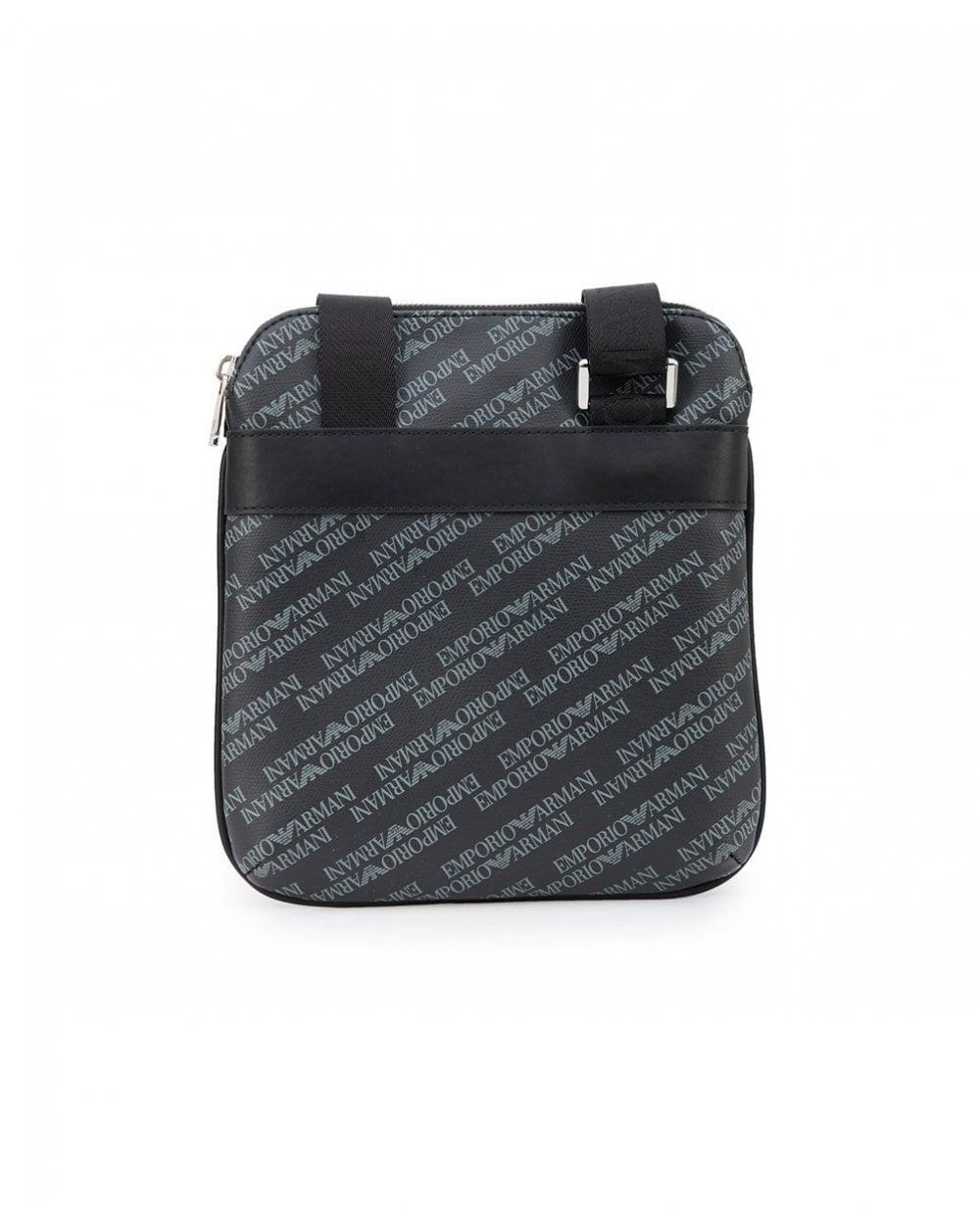 Armani Jeans All Over Logo Leather Stash Bag in Black for Men - Lyst 650afceab6274